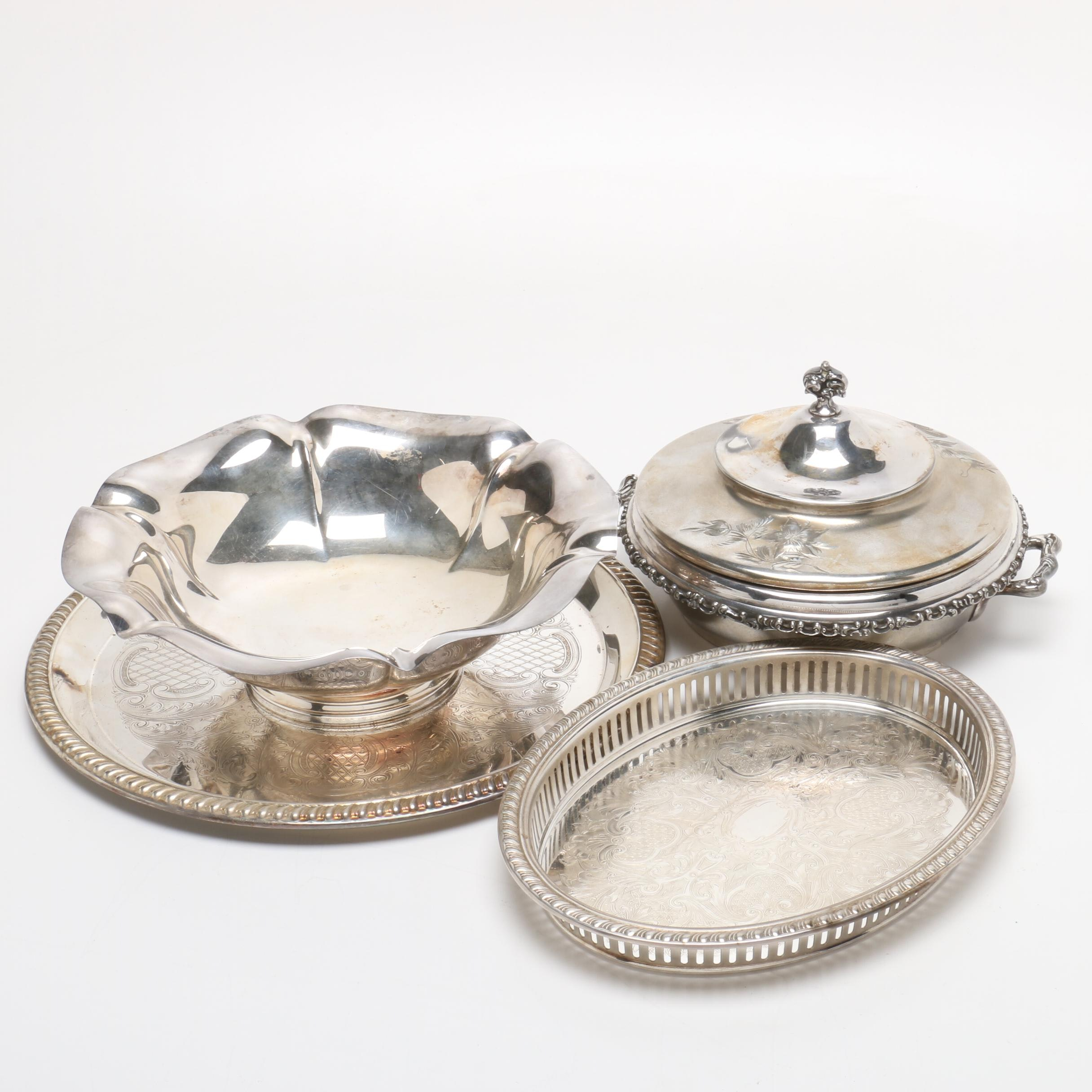 Silver Plate Serveware Featuring Poole and Reed & Barton