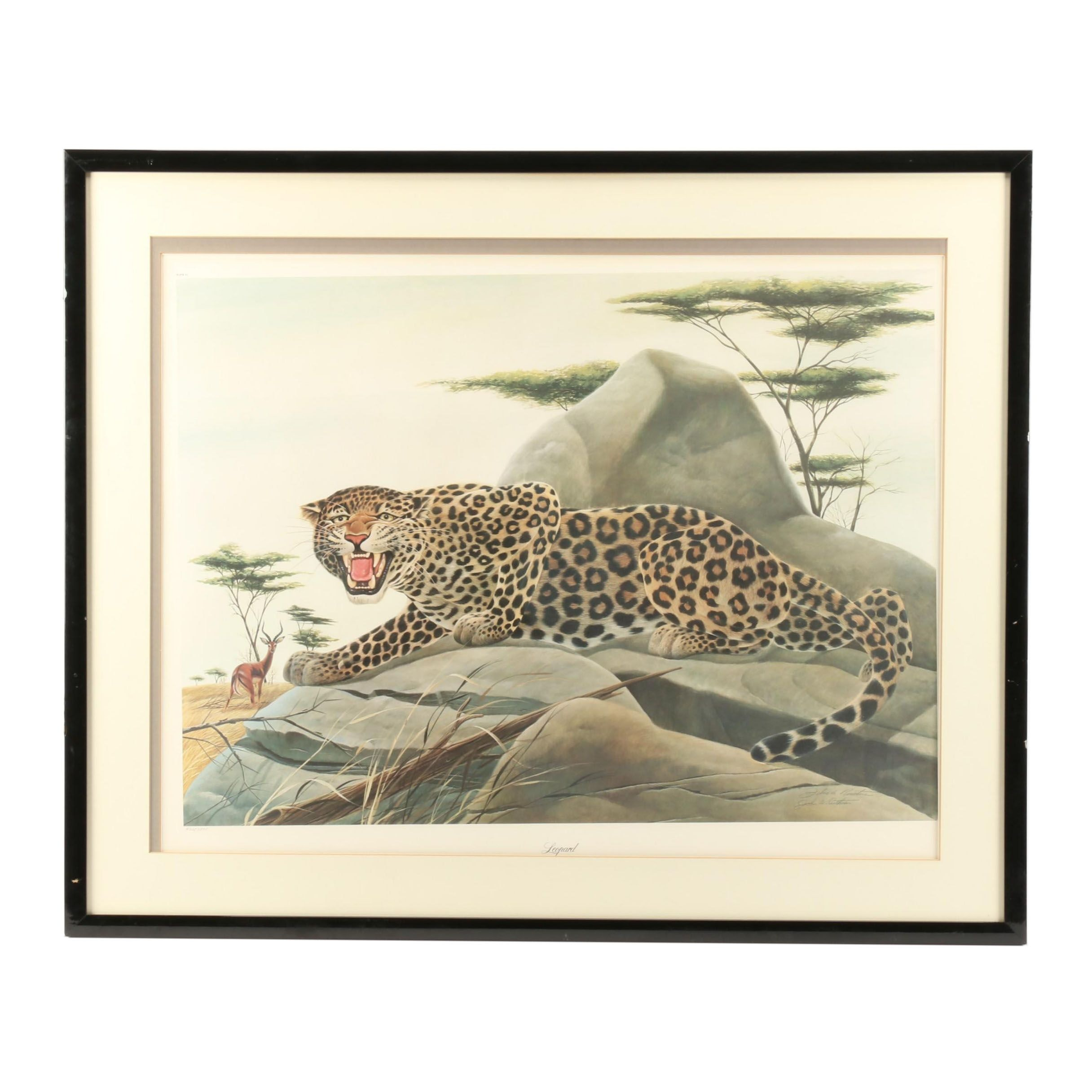 "John Ruthven Limited Edition Offset Lithograph ""Leopard"""