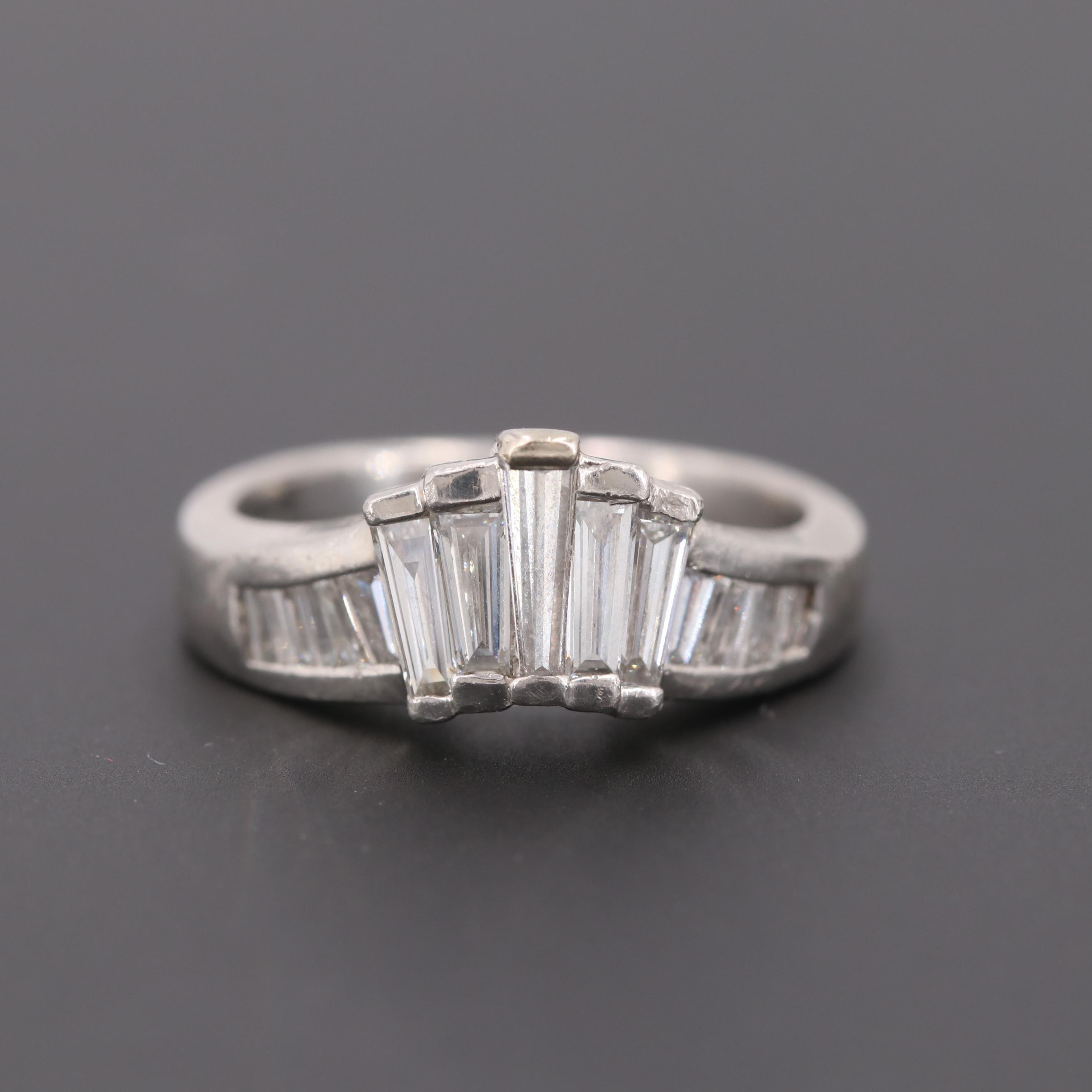 Platinum 1.50 CTW Diamond Ring
