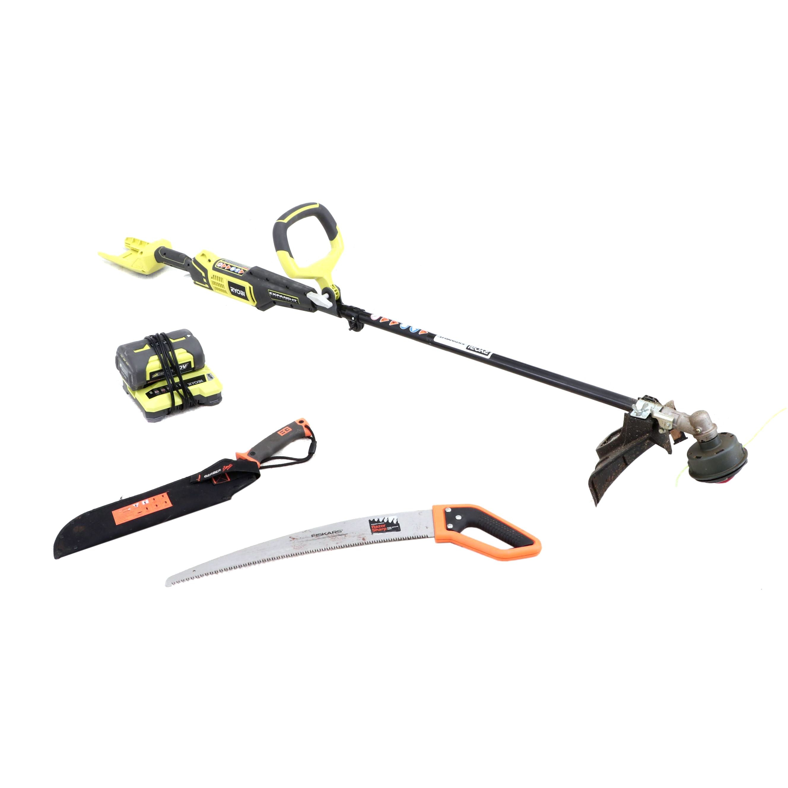 Ryobi Weed Trimmer, Trim Saw and Machete