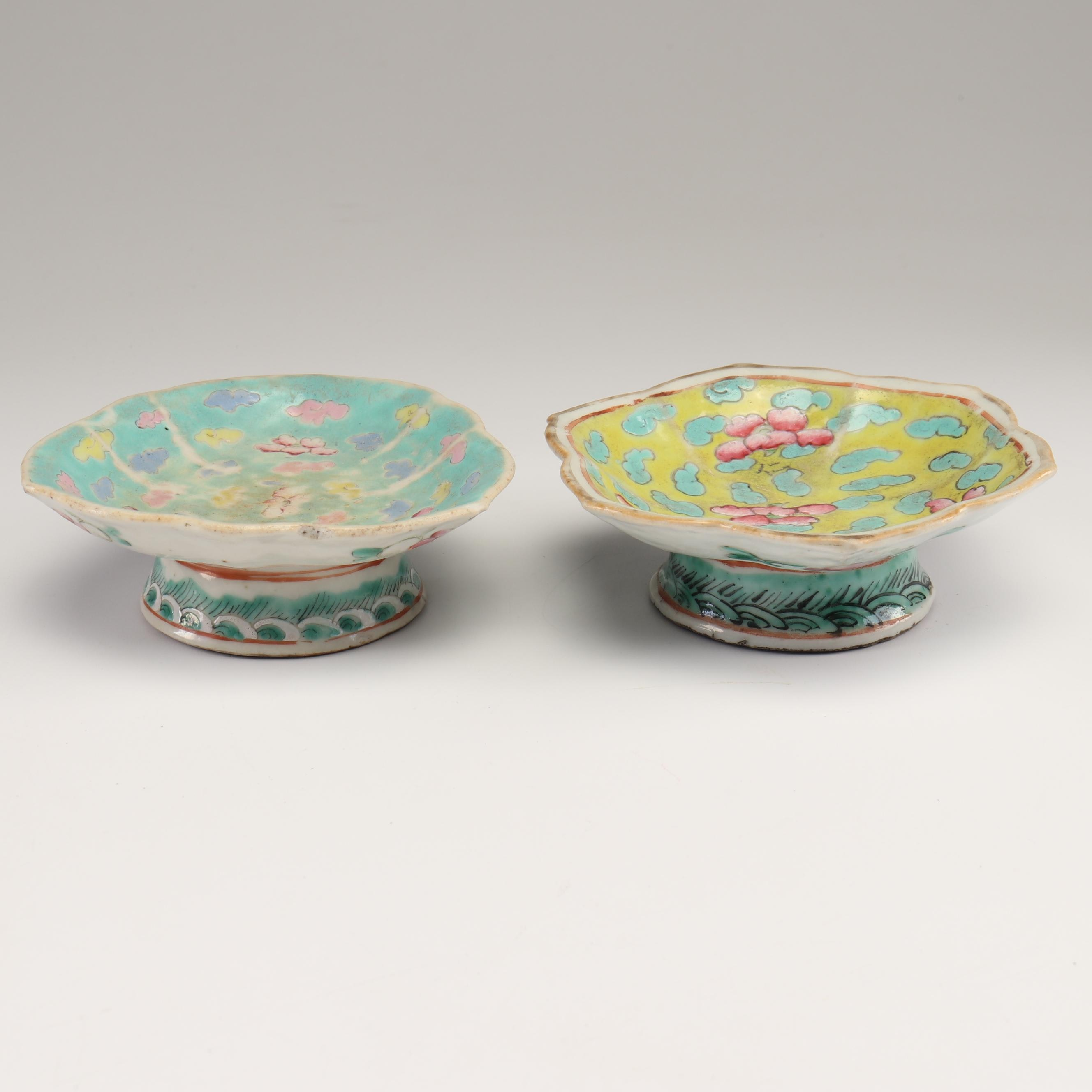 Chinese Stoneware Pedestal Dishes, Early 20th Century