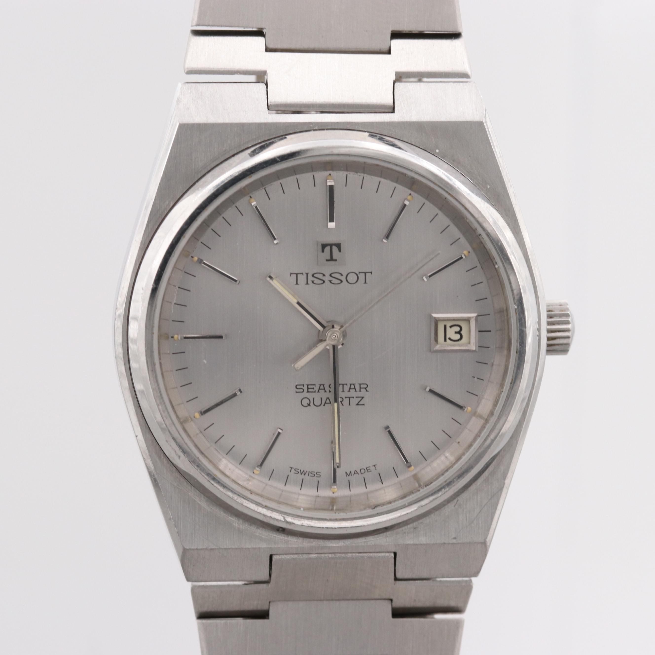 Vintage Tissot Seastar Stainless Steel Quartz Wristwatch
