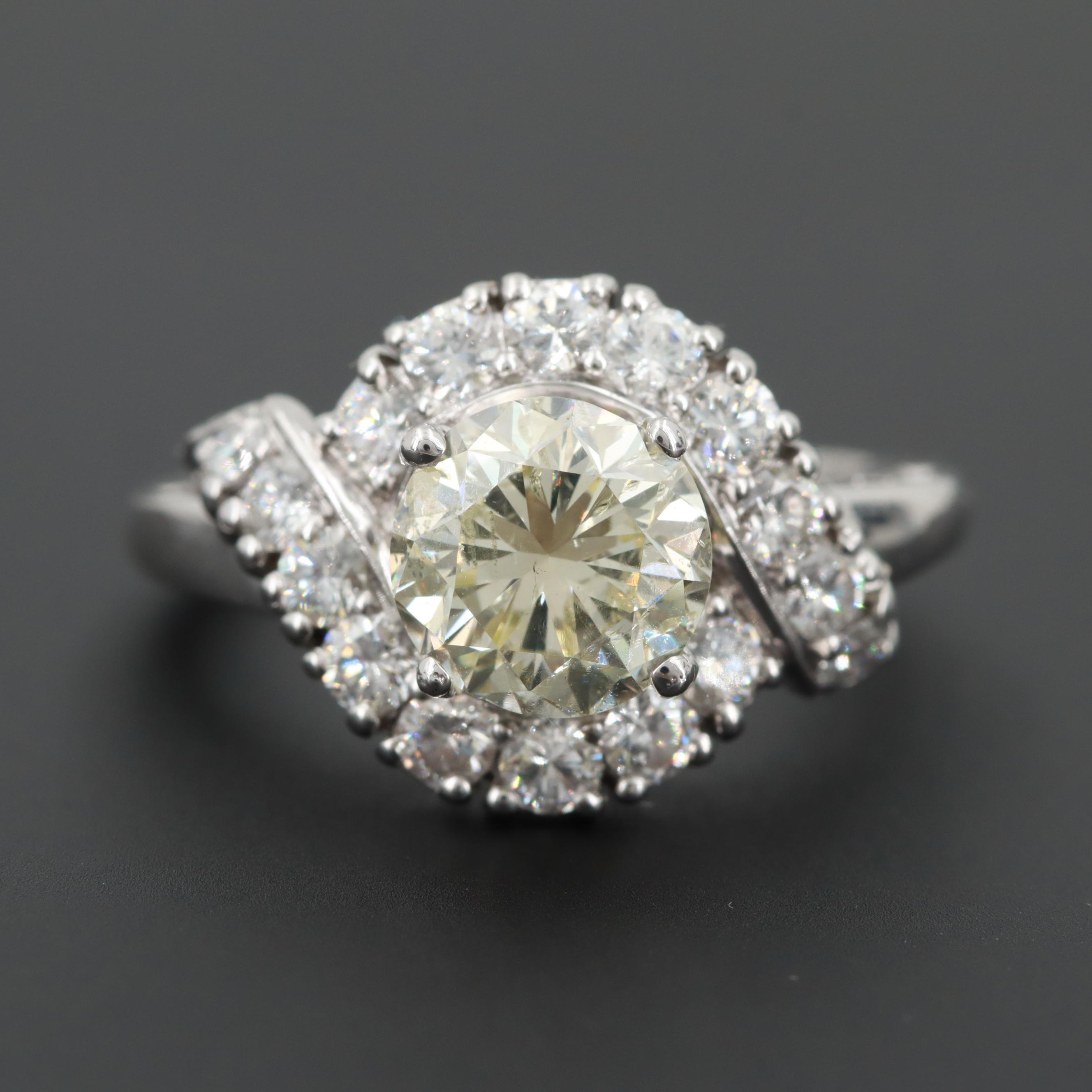 Platinum 3.03 CTW Diamond Ring
