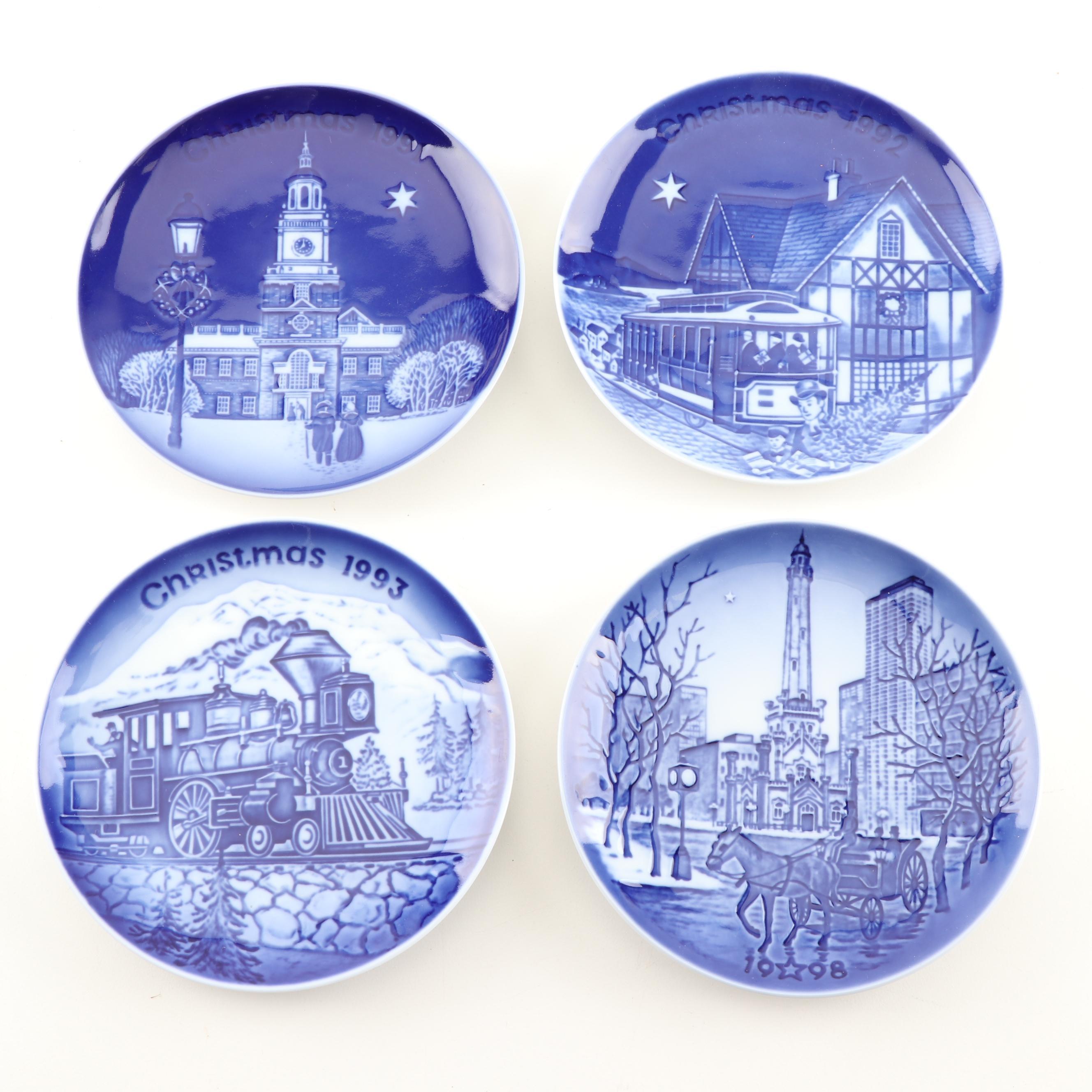 Bing & Grondahl Copenhagen Porcelain Christmas Heritage Plates
