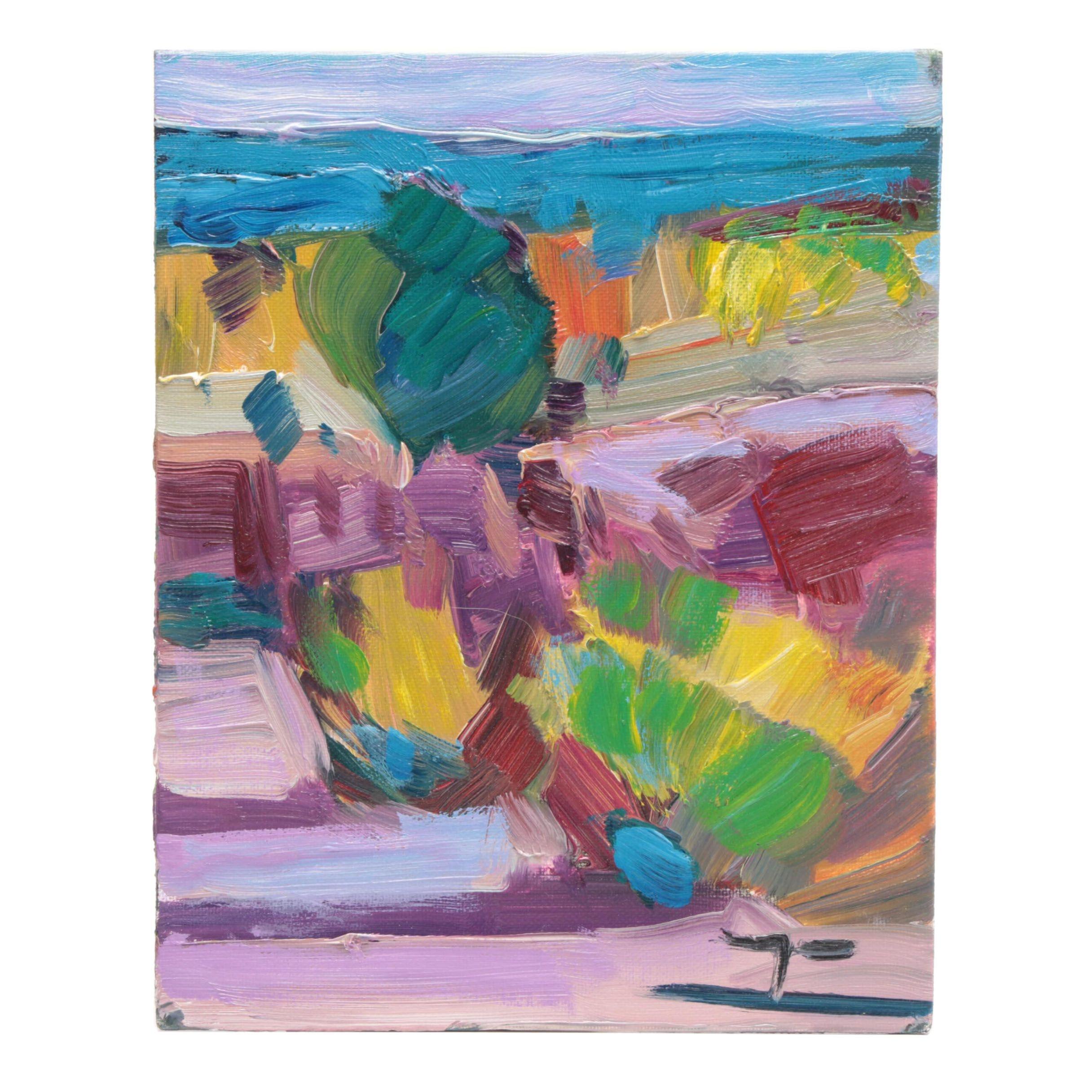 """Jose Trujillo Oil Painting """"Desert Light"""""""