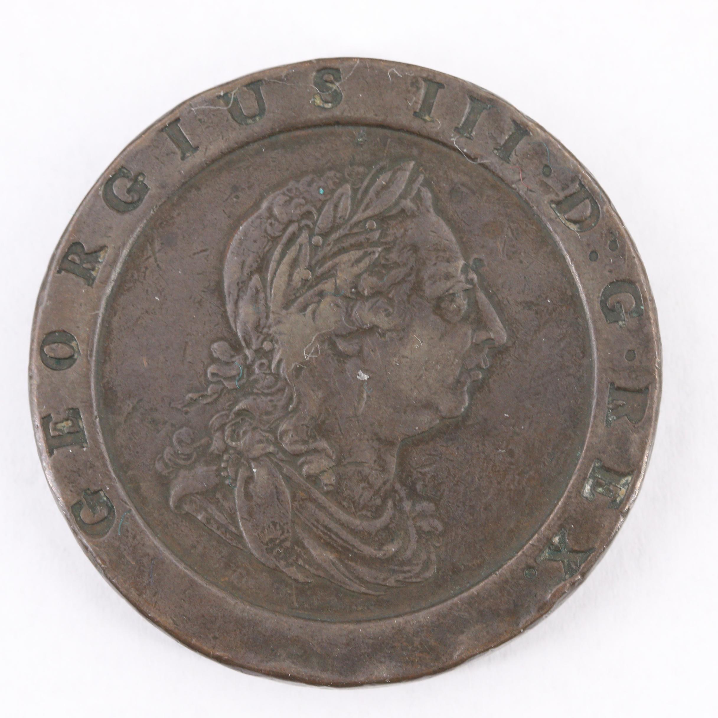 1797 George III Copper Cartwheel Two Pence Coin
