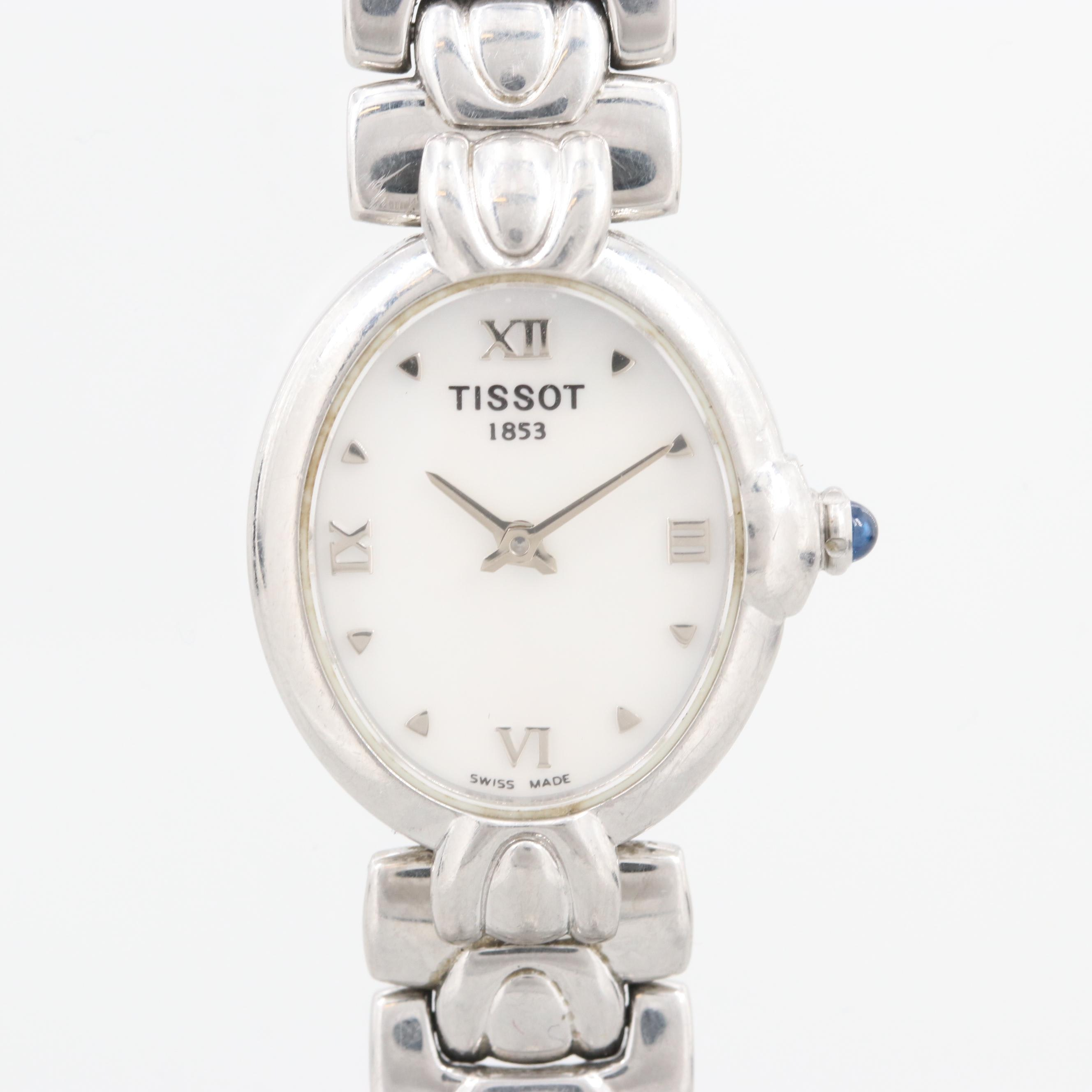 Tissot Stainless Steel Quartz Wristwatch With Mother of Pearl Dial