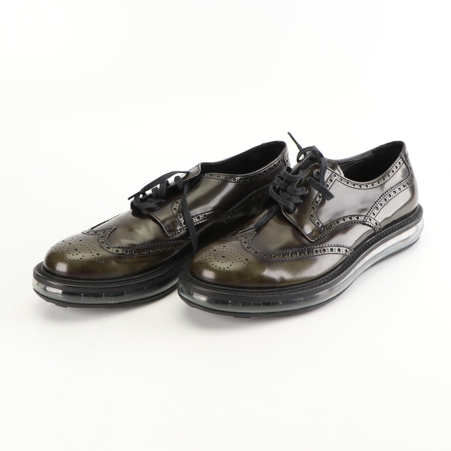 248fcf7e49a8 Men s Prada Milano Levitate Leather Wingtip Oxford Shoes   EBTH