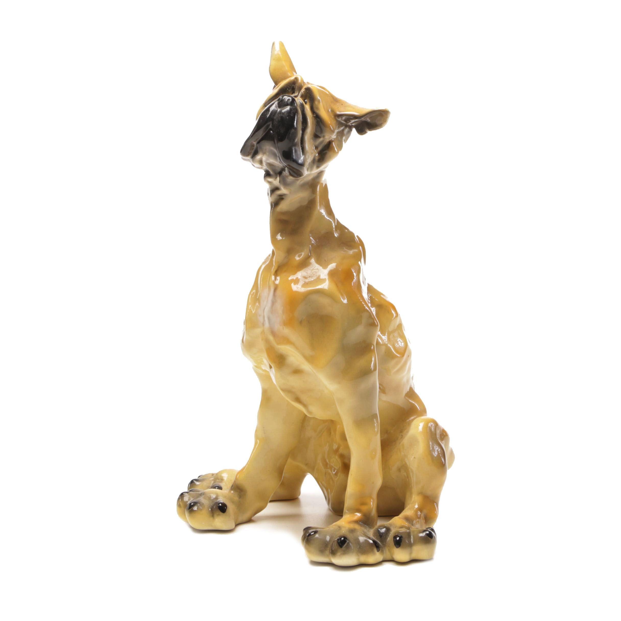 Figural Ceramic Great Dane