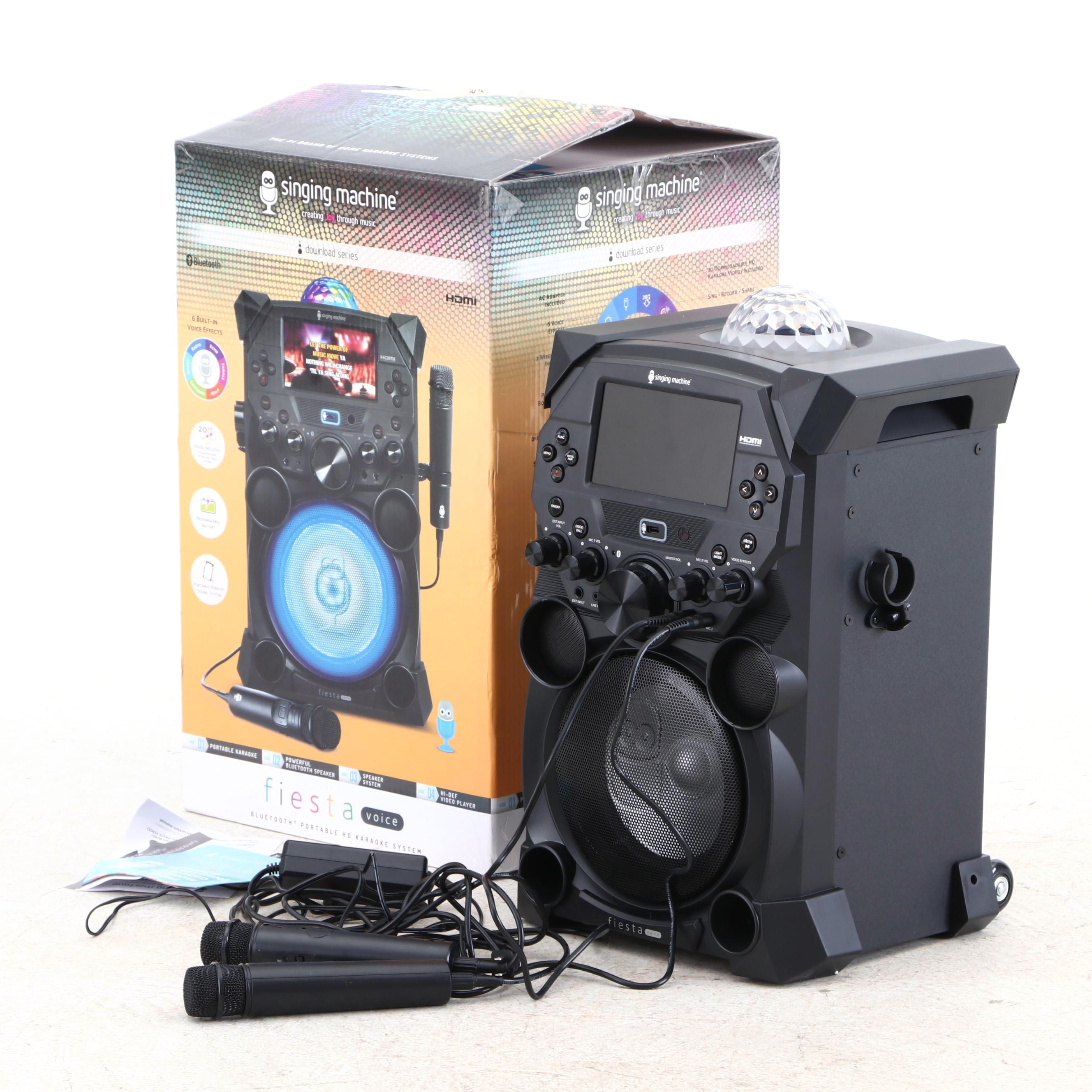 Singing Machine Fiesta Voice Download Series Karaoke Machine