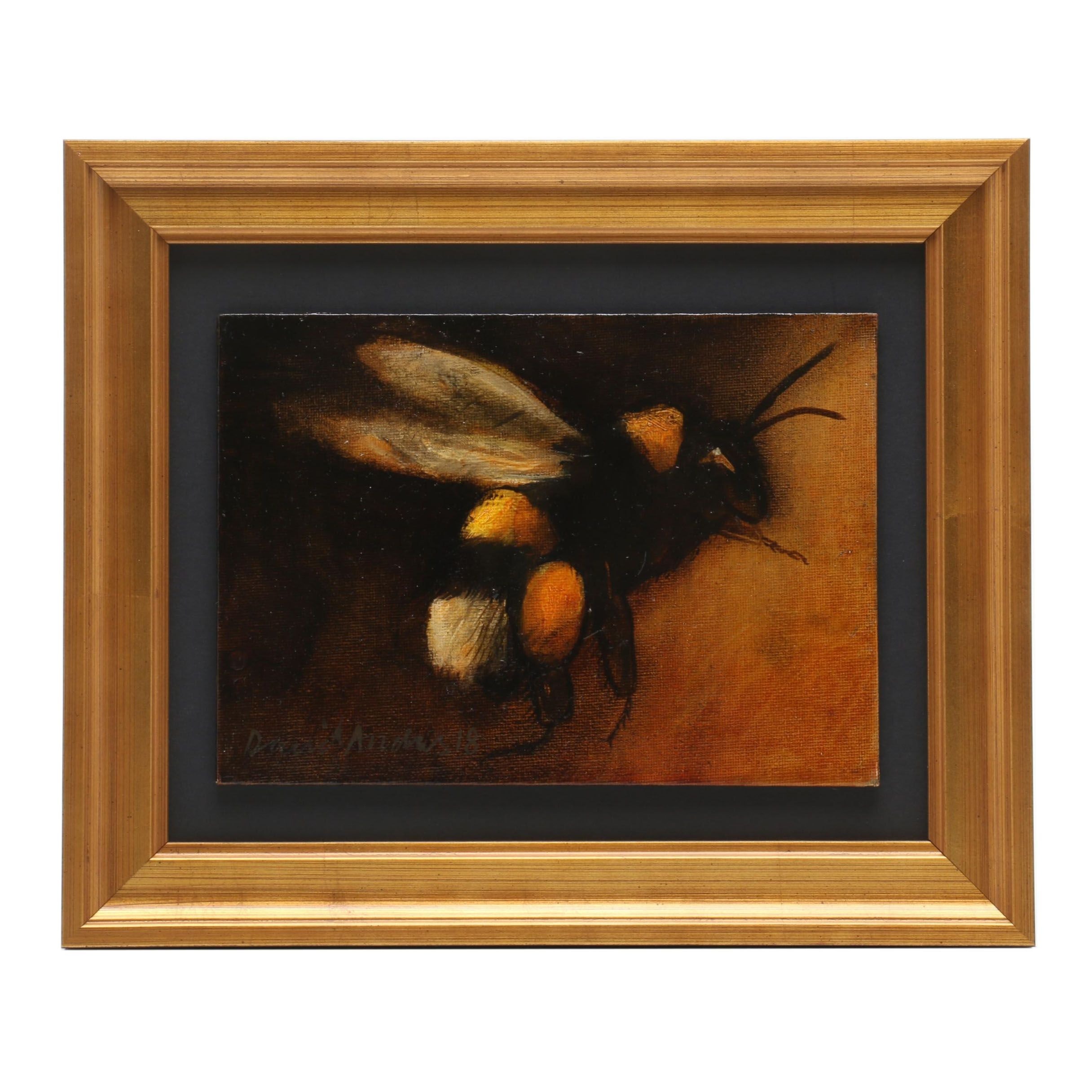David Andrews Oil Painting of Bumble Bee