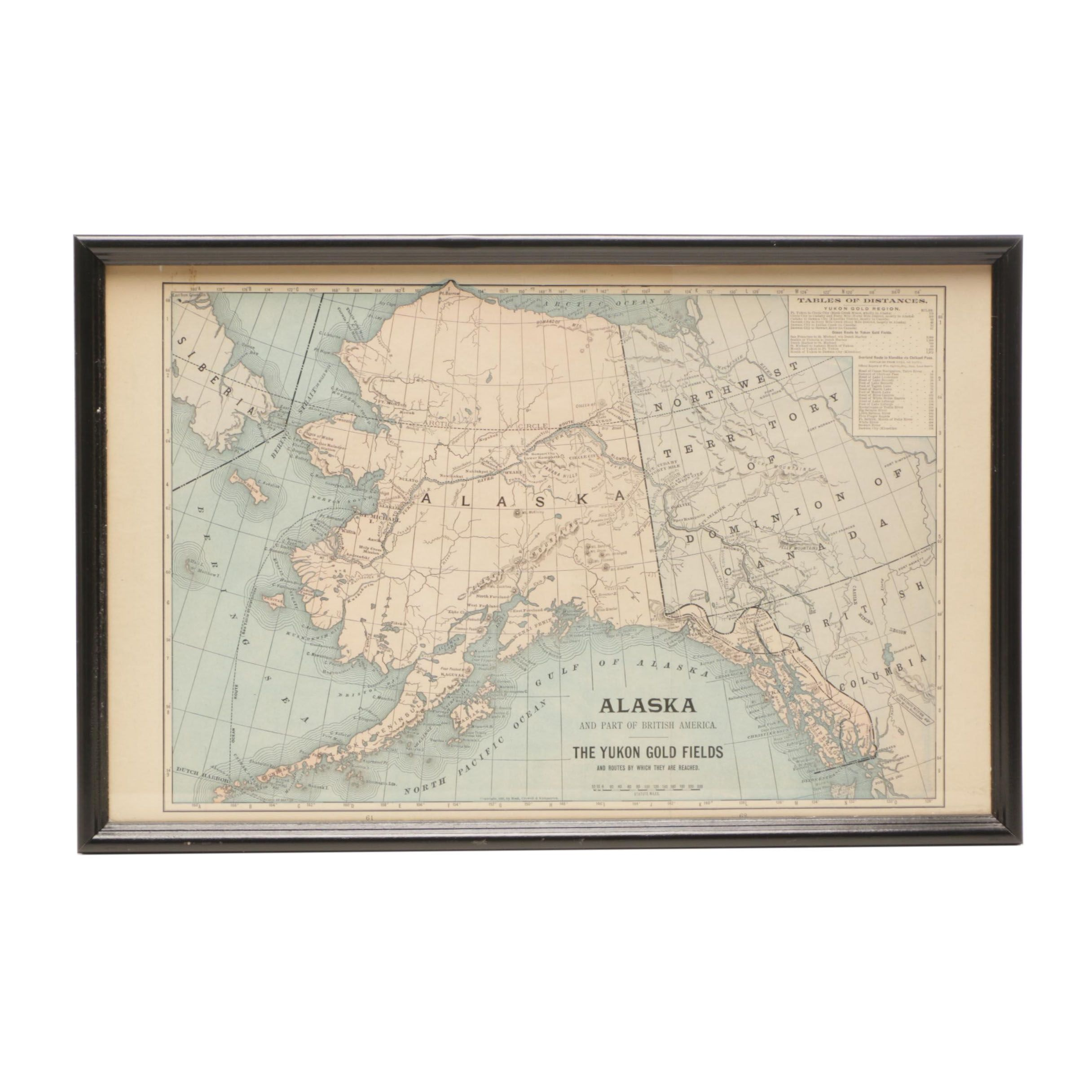 "Antique Map of Alaska ""The Yukon Gold Fields"""