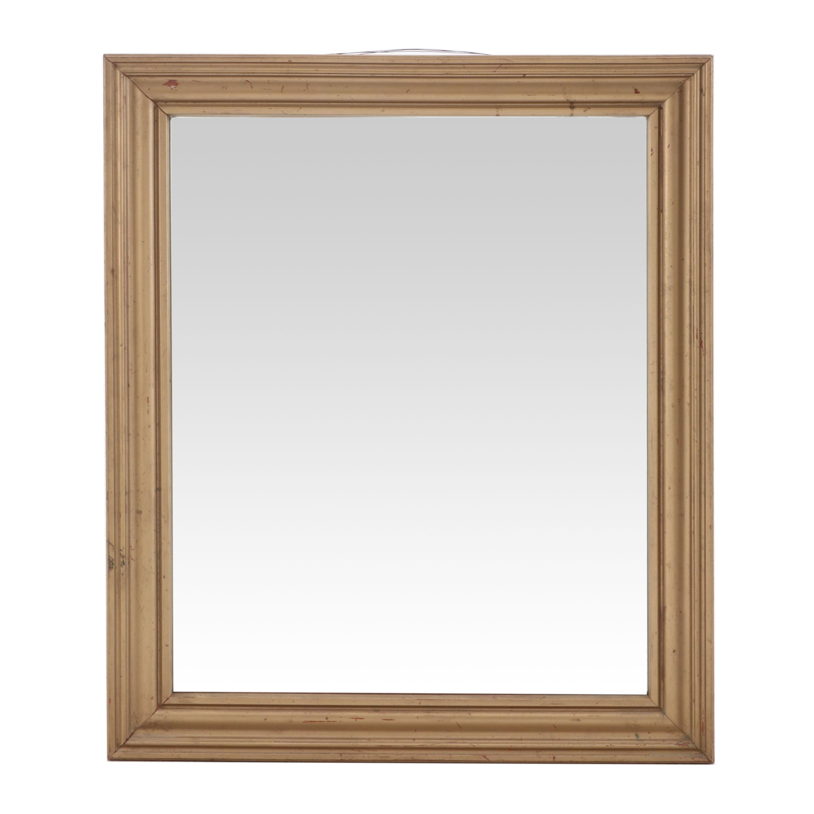 Muted Gold Paint Finish Wall Mirror