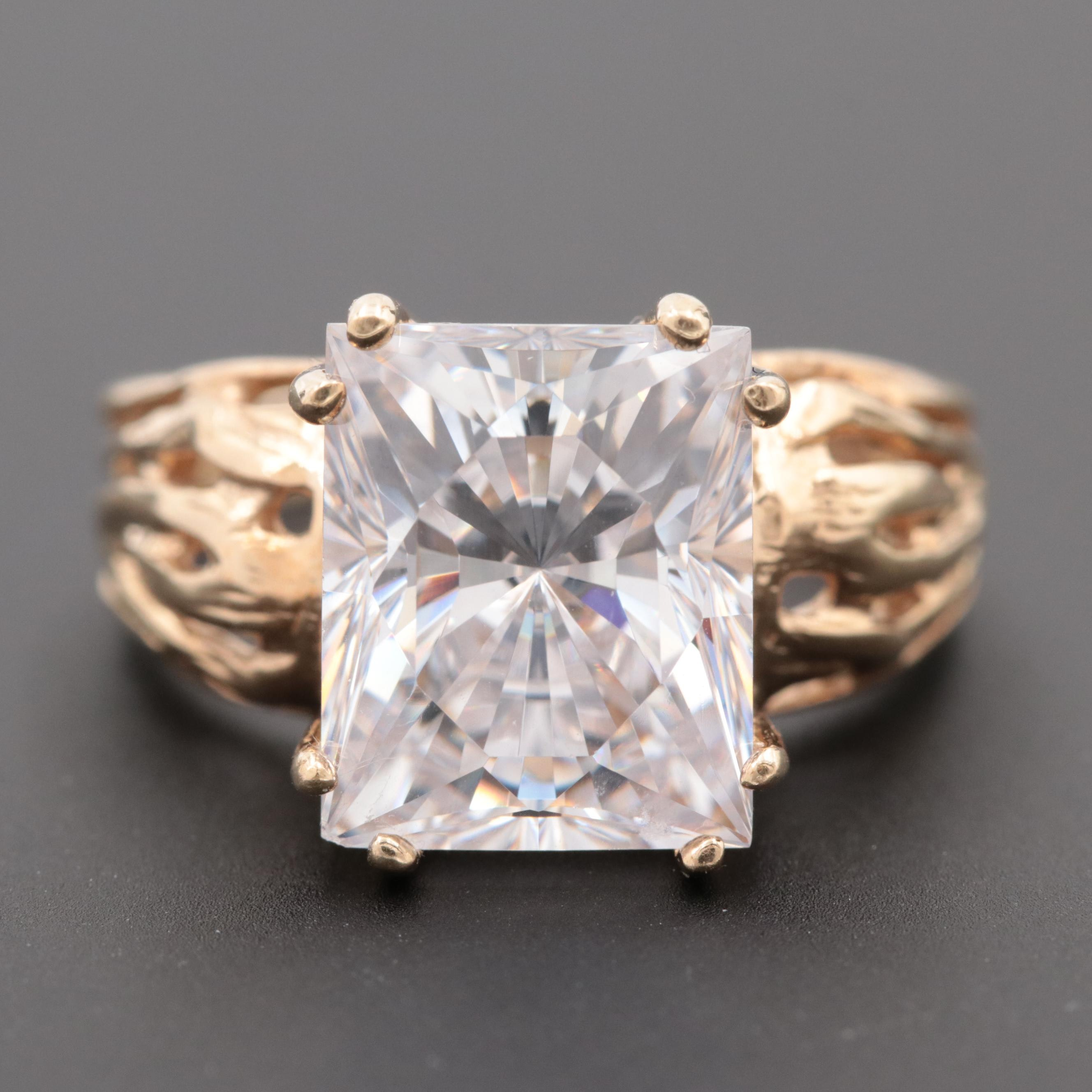 10K Yellow Gold Cubic Zirconia Ring