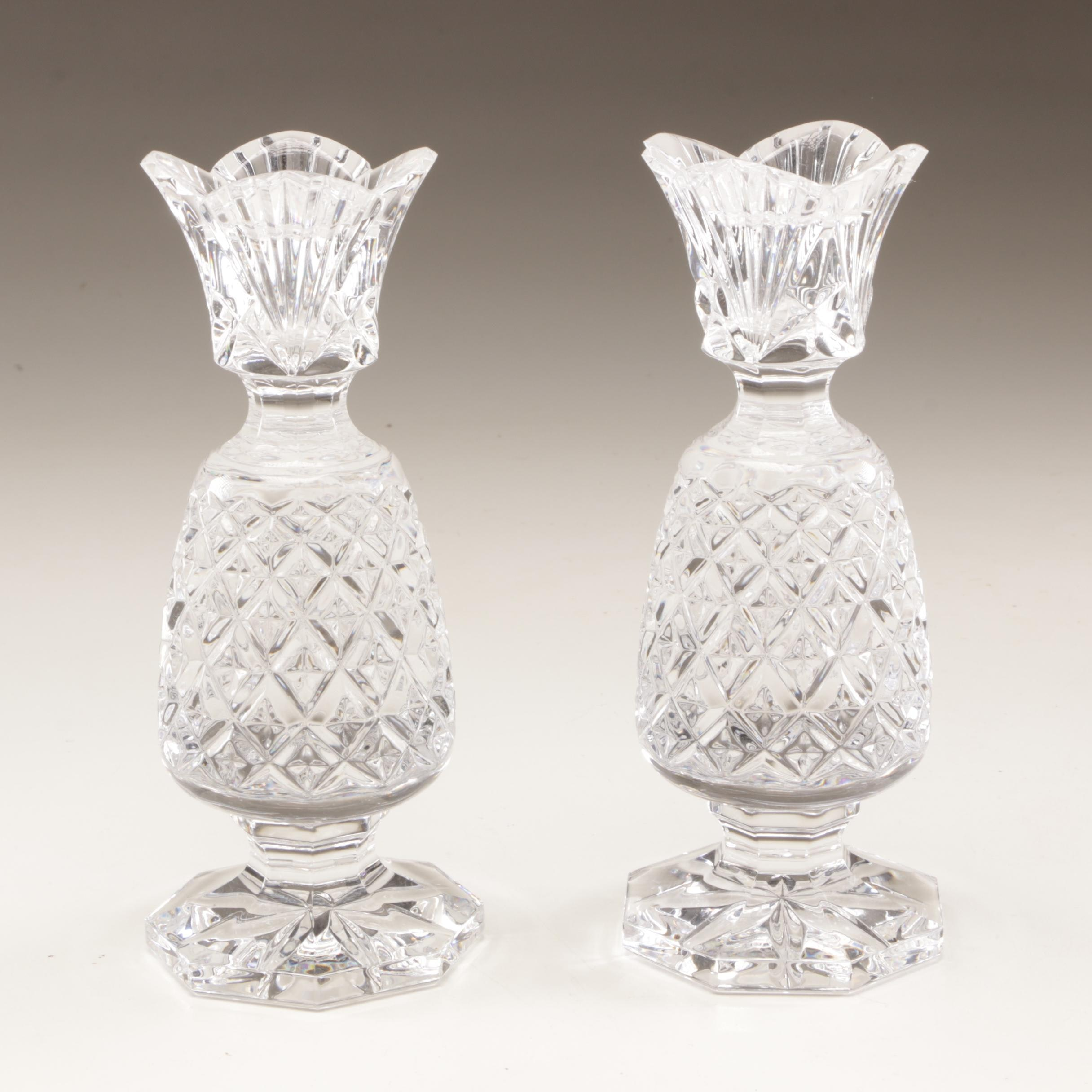"""Waterford Crystal """"Hospitality"""" Candle Holders"""