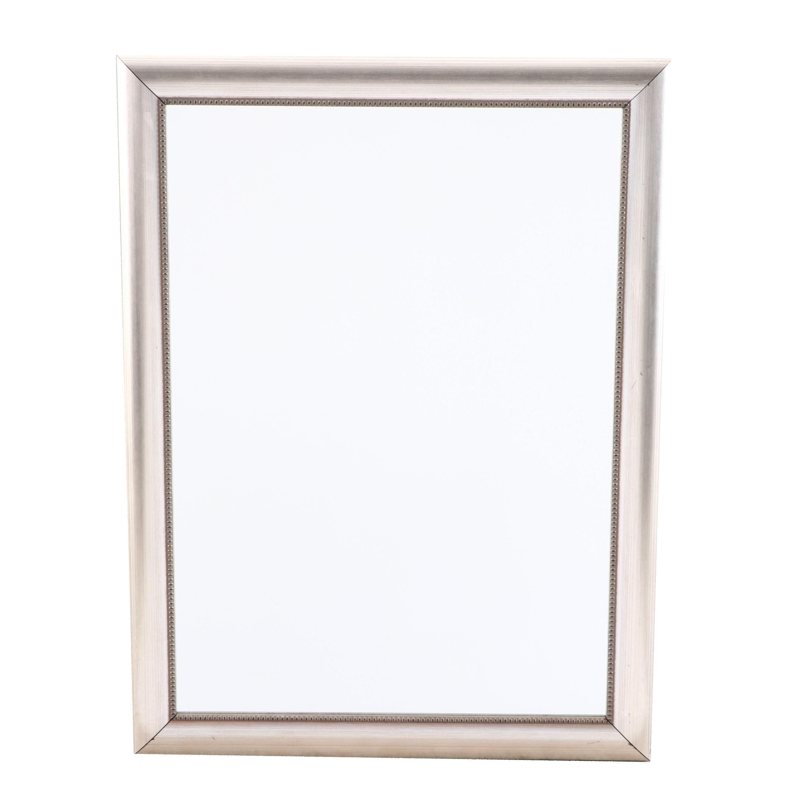 Painted Silver Finish Wall Mirror