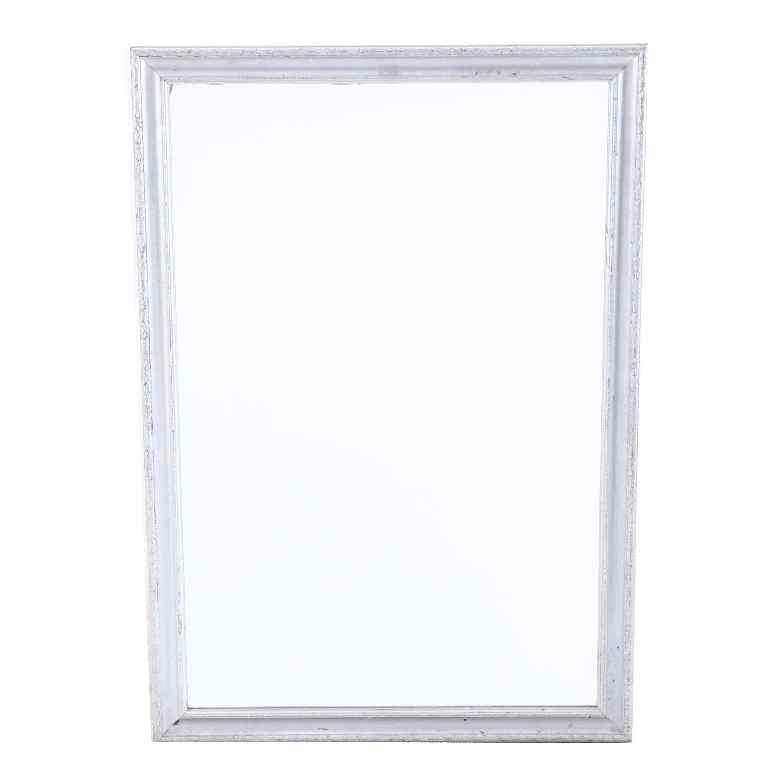 Silver Paint Finish Wall Mirror
