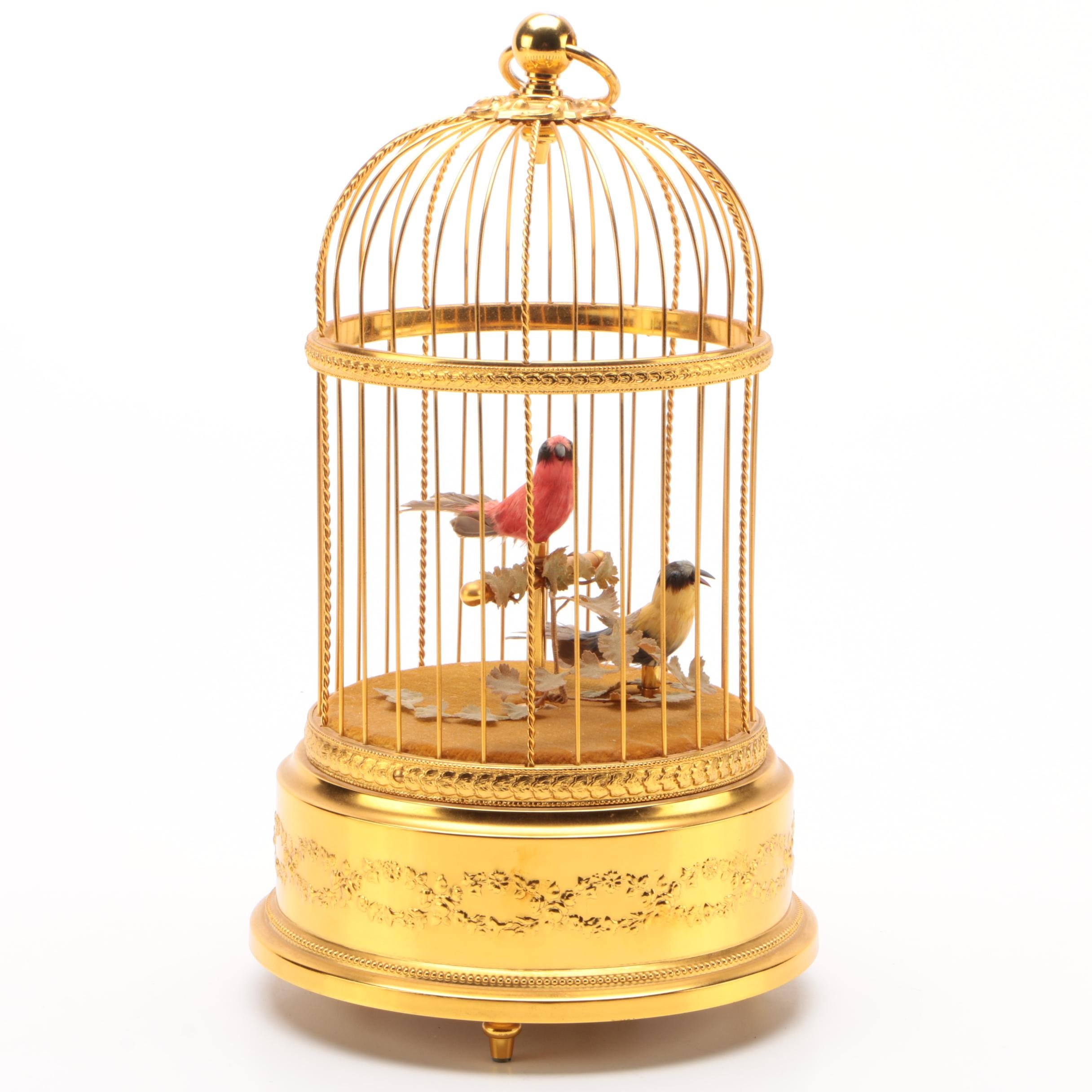 Swiss Bird Cage Music Box by Reuge Music