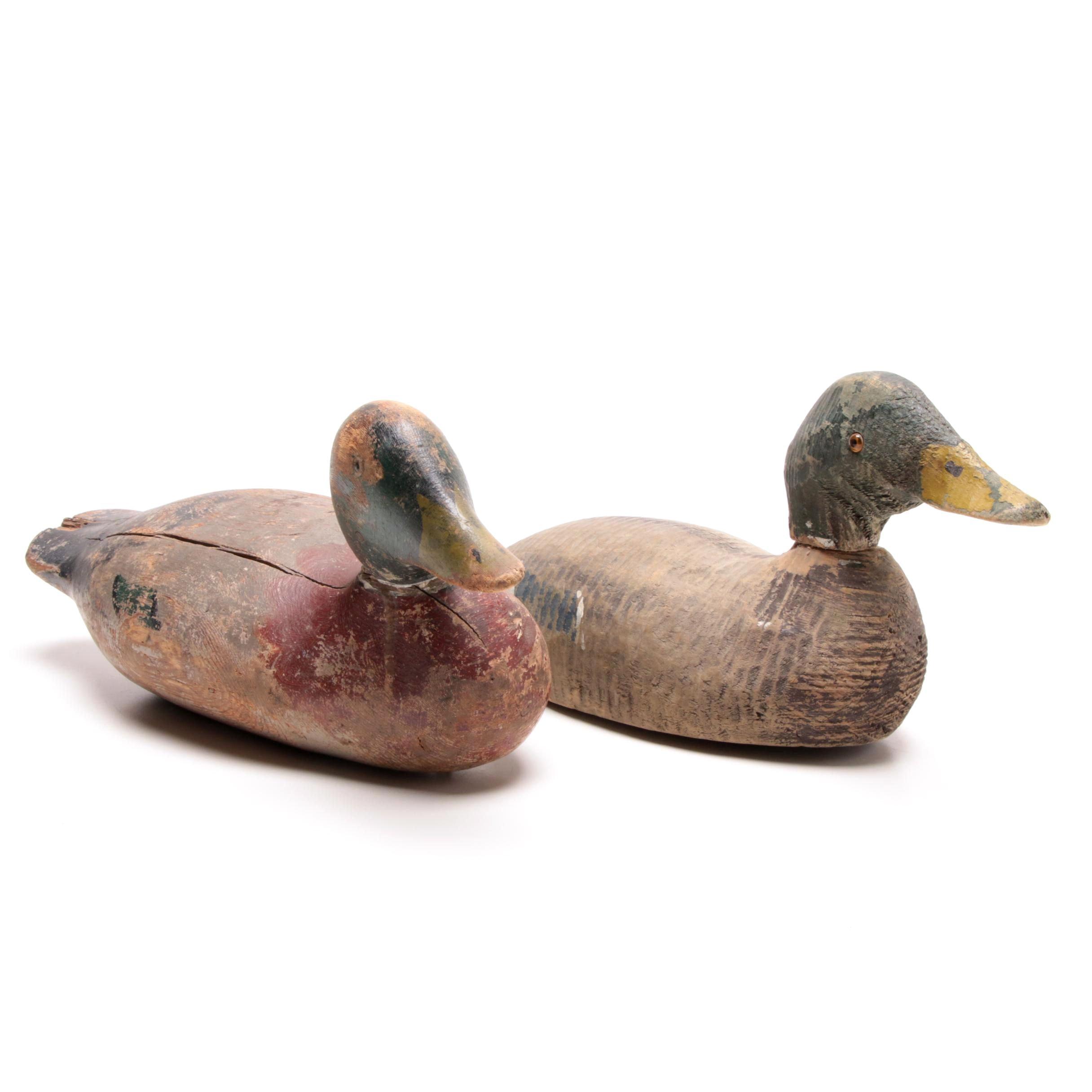Two Mid-Century Era Wood Duck Decoys