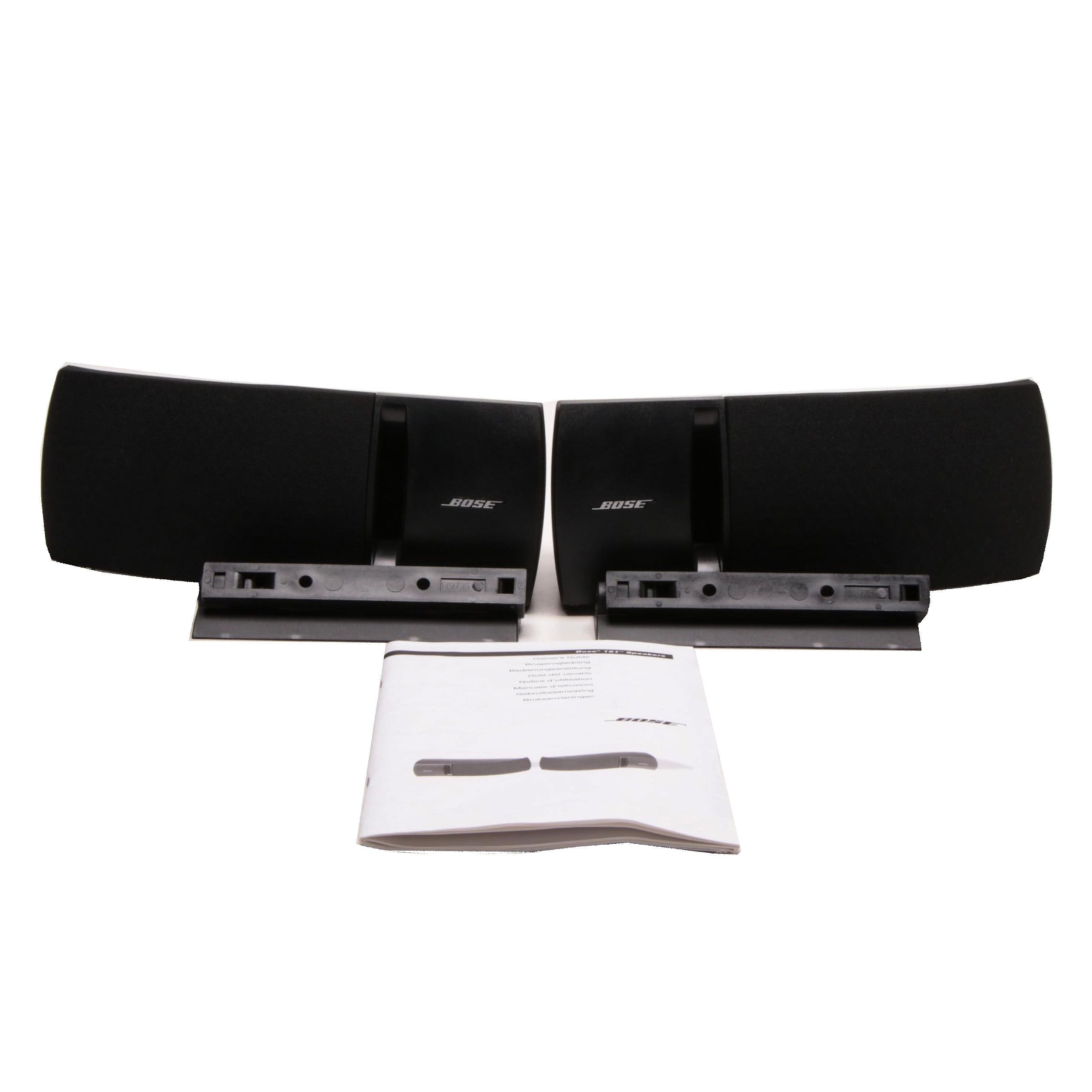 Bose 161 Wall Mount Speakers with Brackets and Owner's Guide