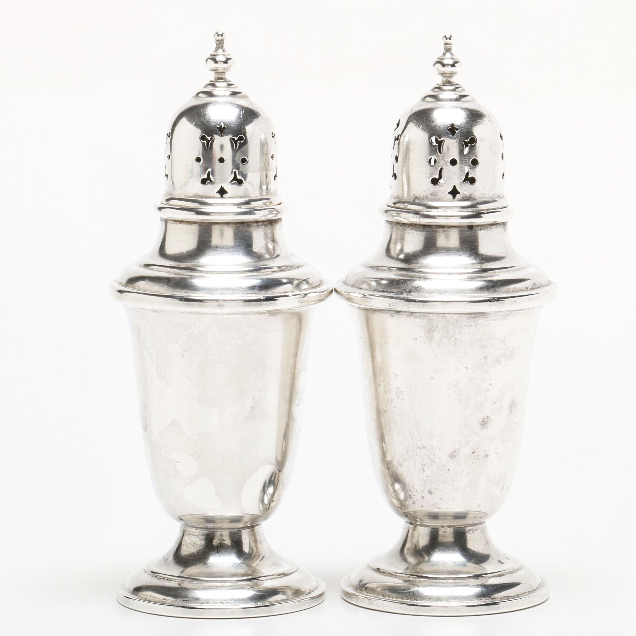 """Gorham """"Puritan"""" Sterling Silver Salt and Pepper Shakers"""