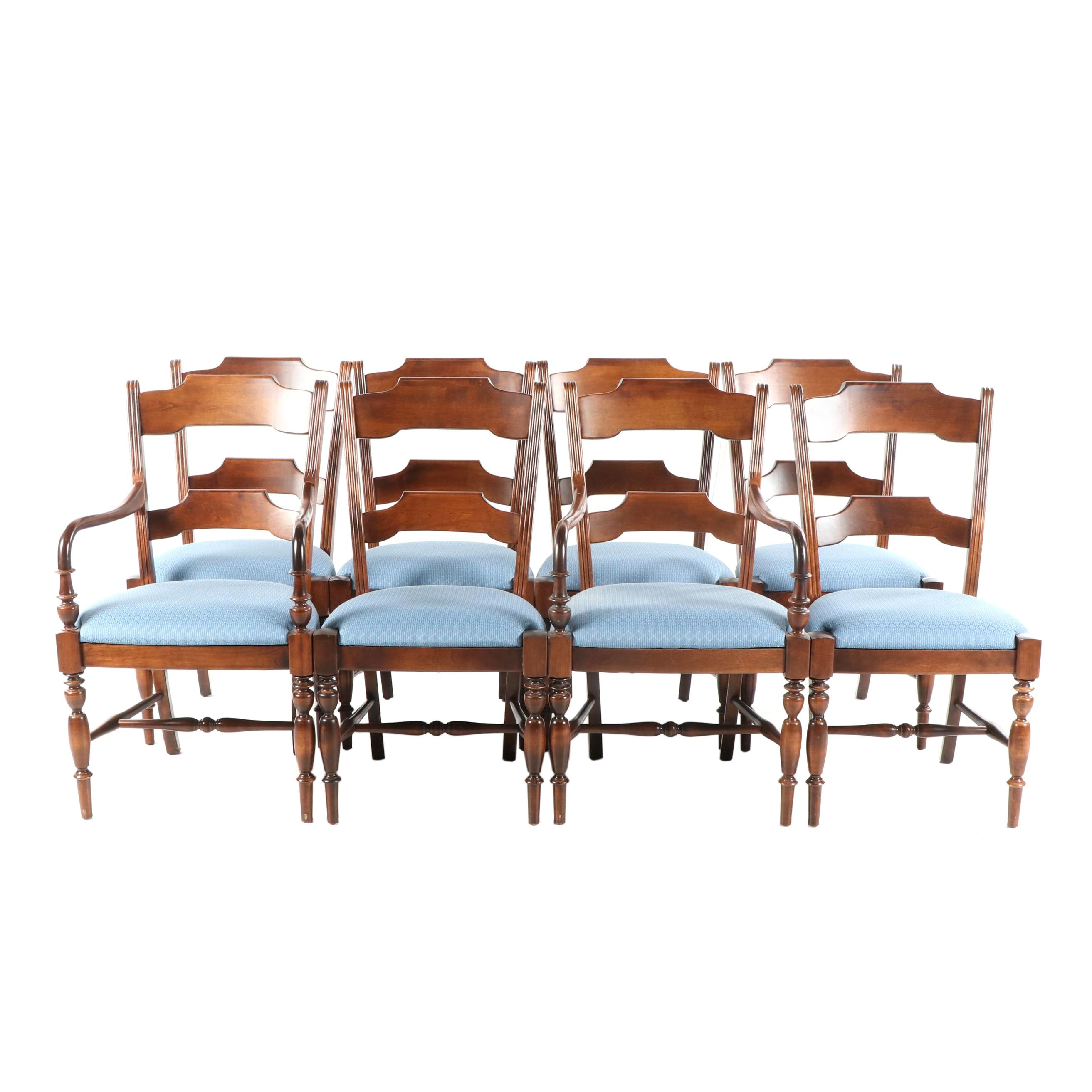 Federal Style Mahogany Dining Chairs, Late 20th Century