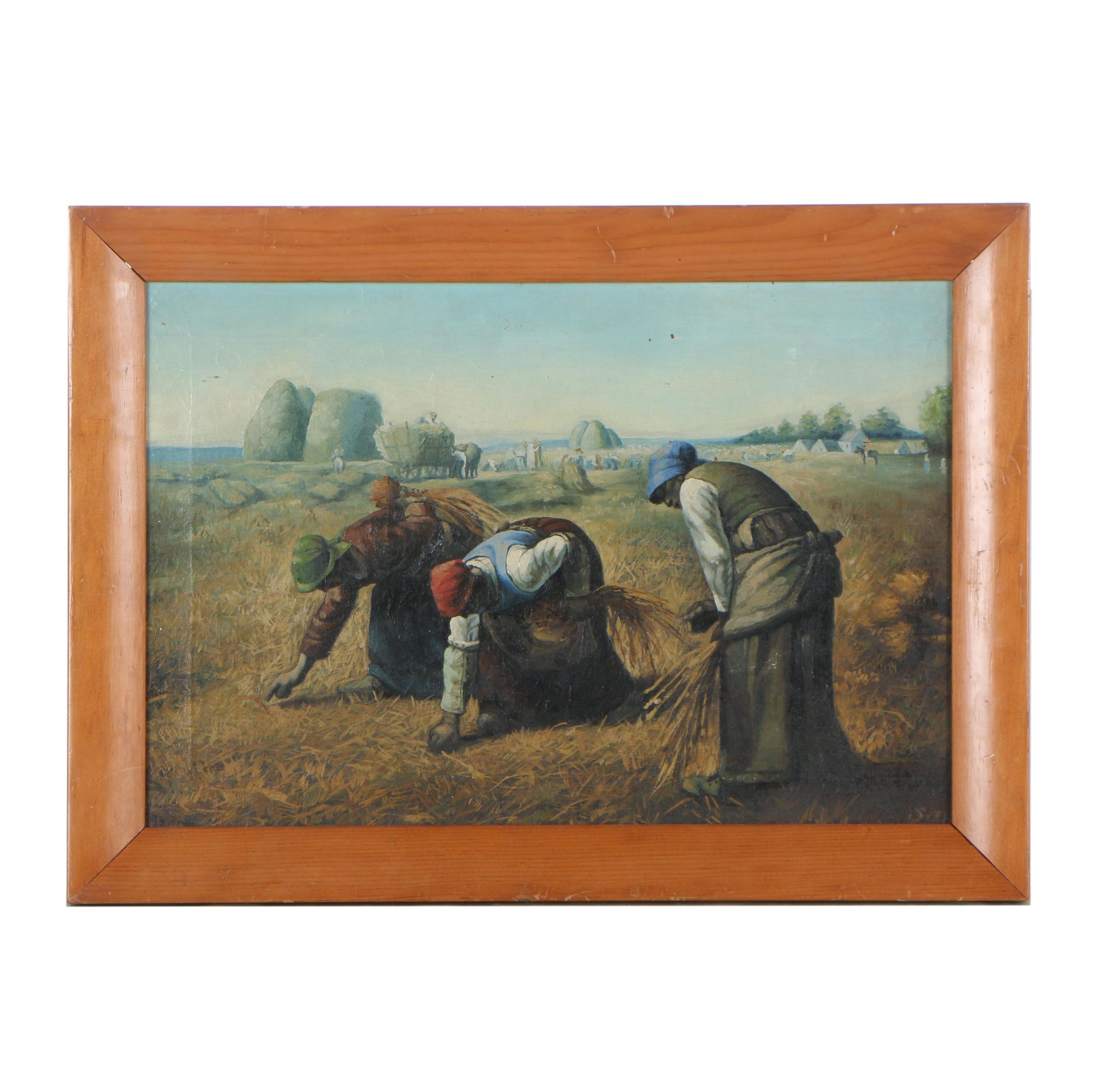 "Copy Oil Painting after Jean-François Millet ""The Gleaners"""