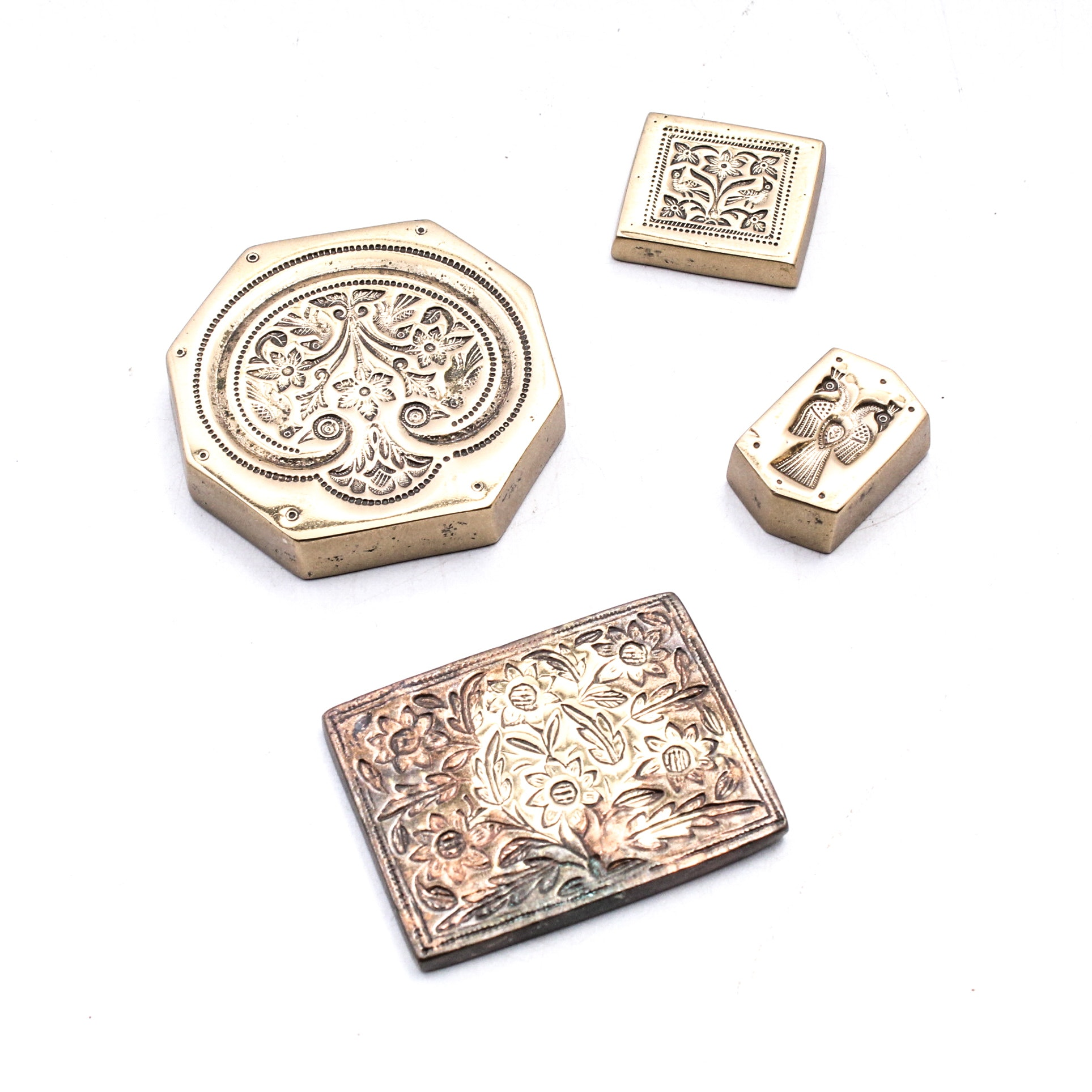 Etched Solid Metal Stamps and Seals