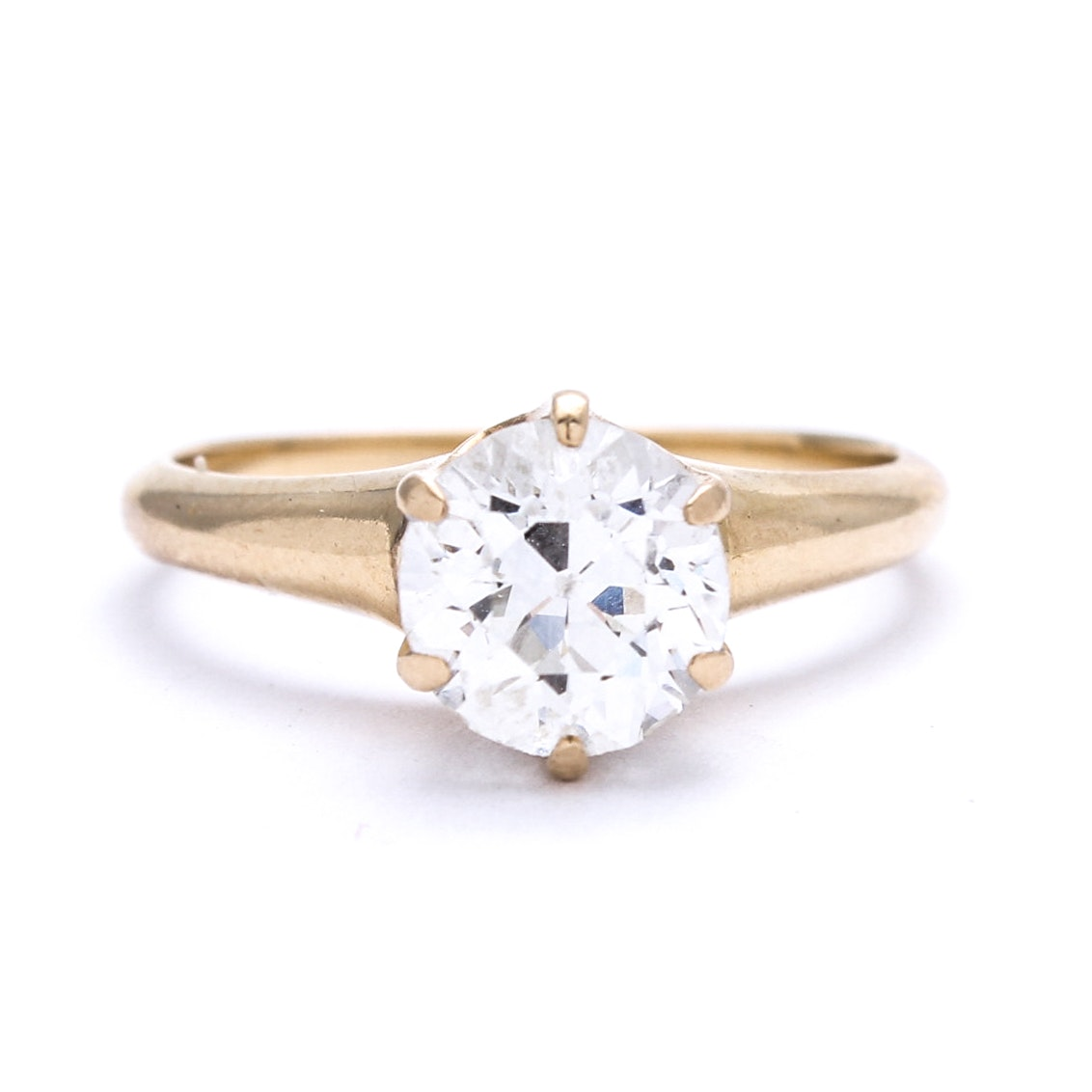 14K Yellow Gold and Platinum 1.41 CT Diamond Ring