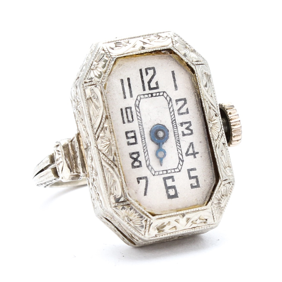 18K White Gold Alexor Convertible Ring Watch