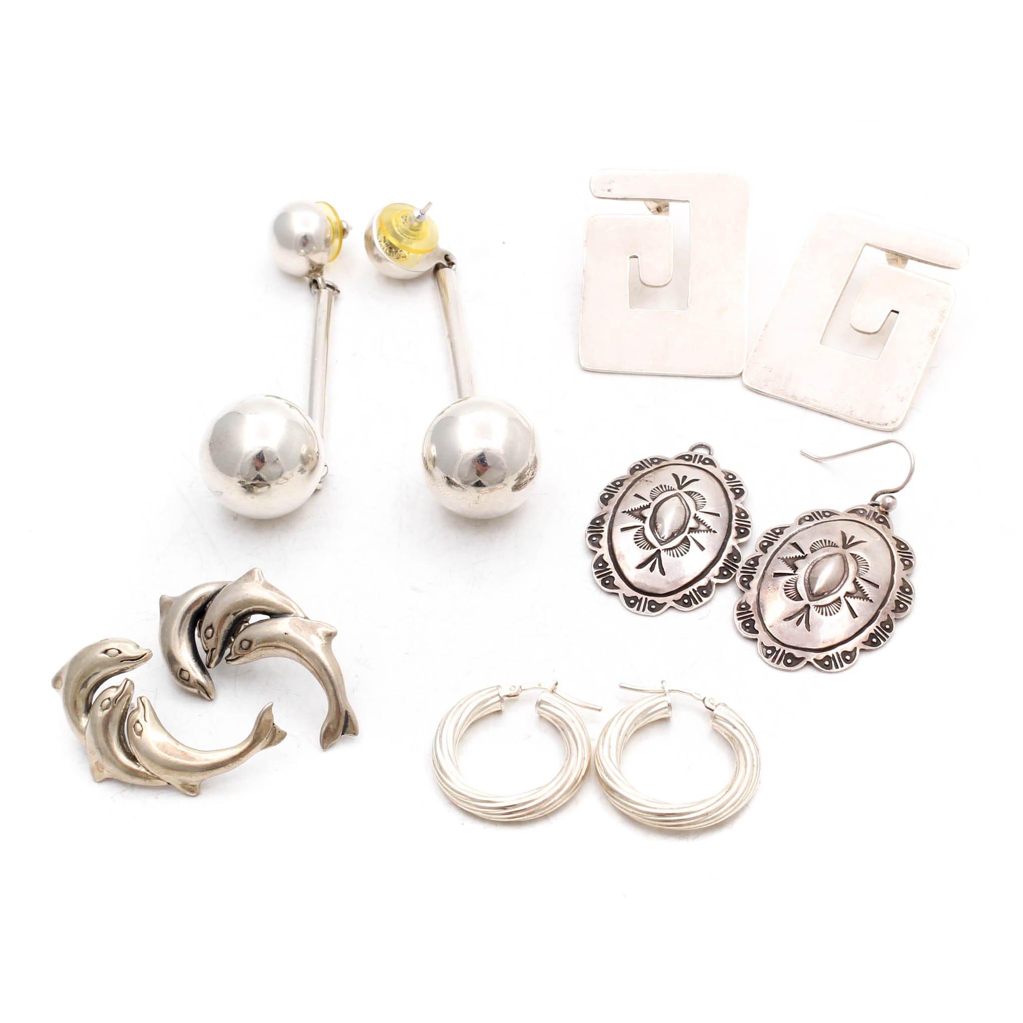 Sterling Silver Earrings Featuring Taxco
