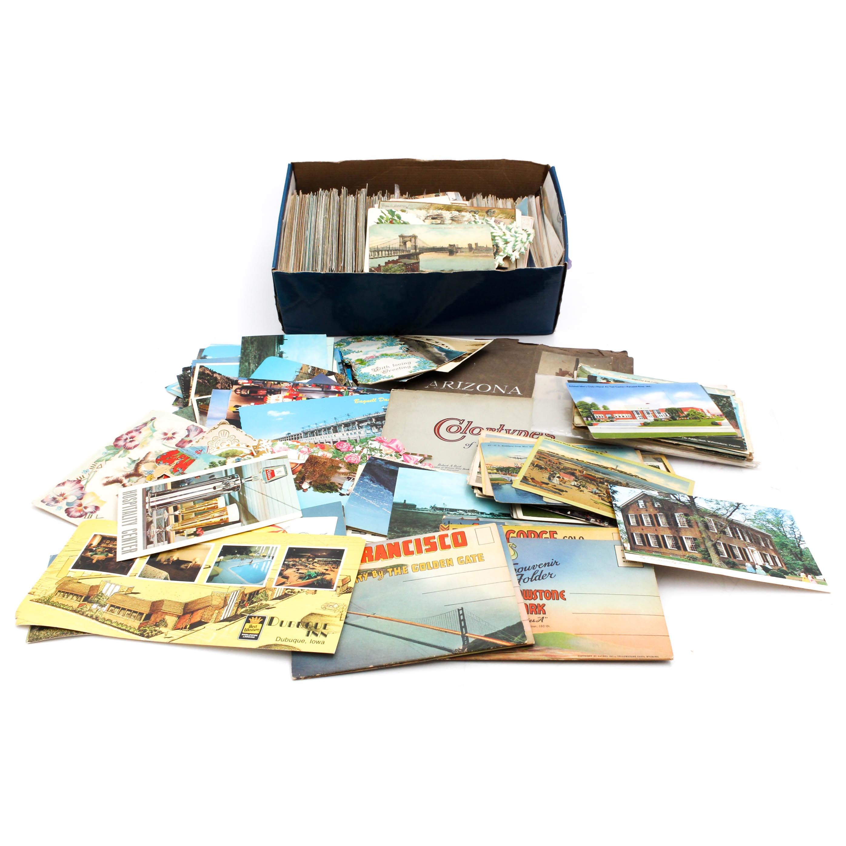 Vintage Postcards, Valentines, and Souvenir Booklets