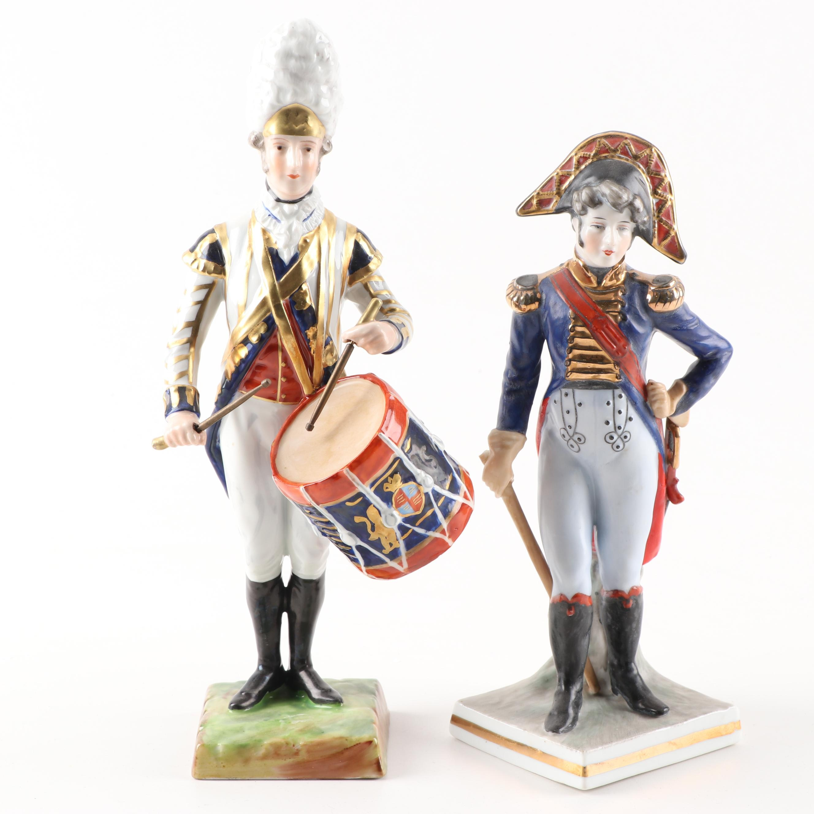Porcelain Military Band Figurines, Early to Mid 19th Century