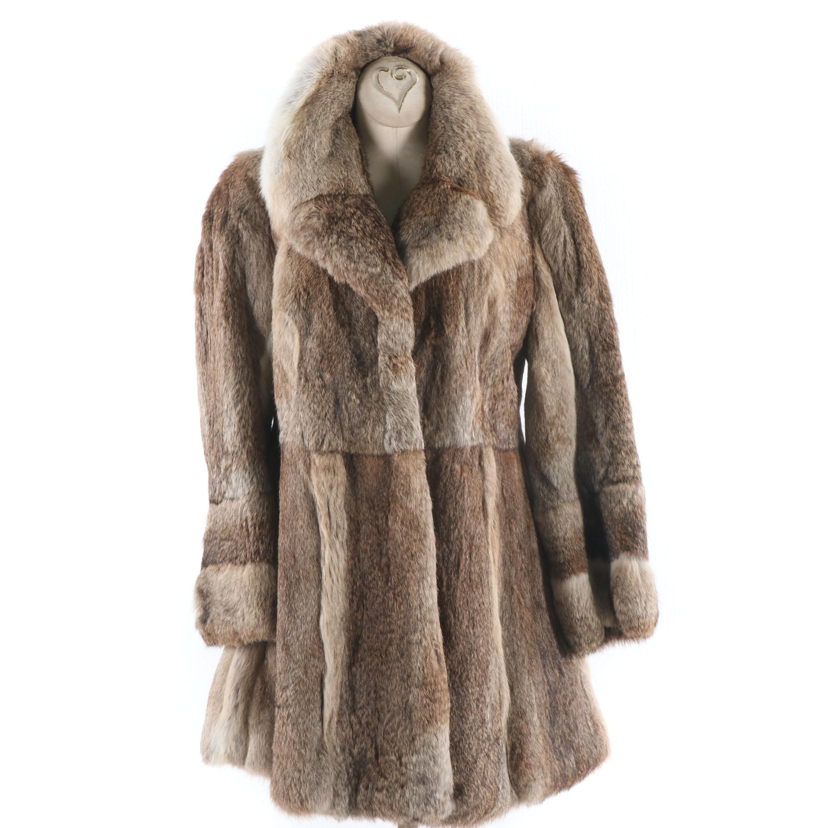 Women's Rabbit Fur Stroller Coat