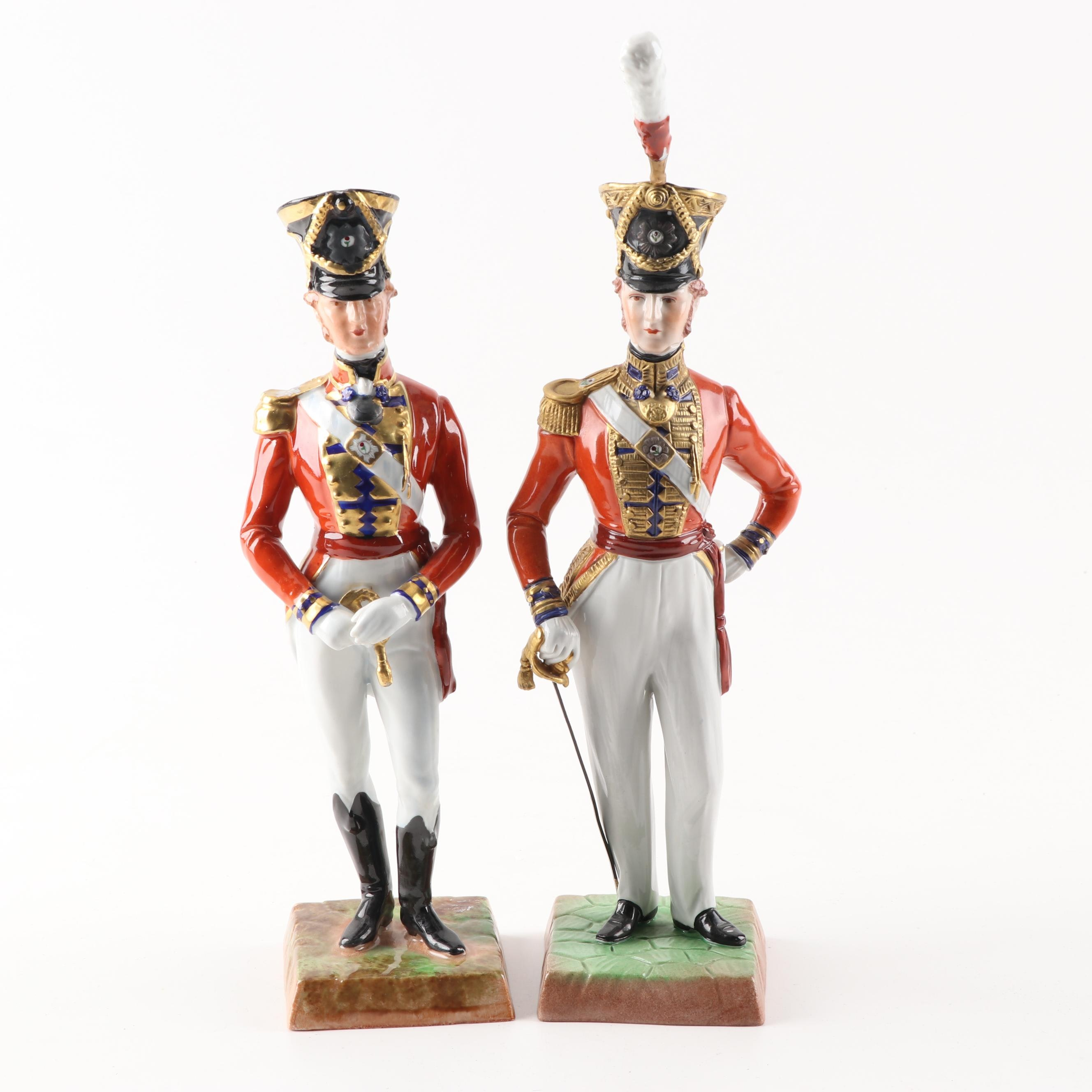 "Dresden ""Officer Third Guards"" Porcelain Figurines"