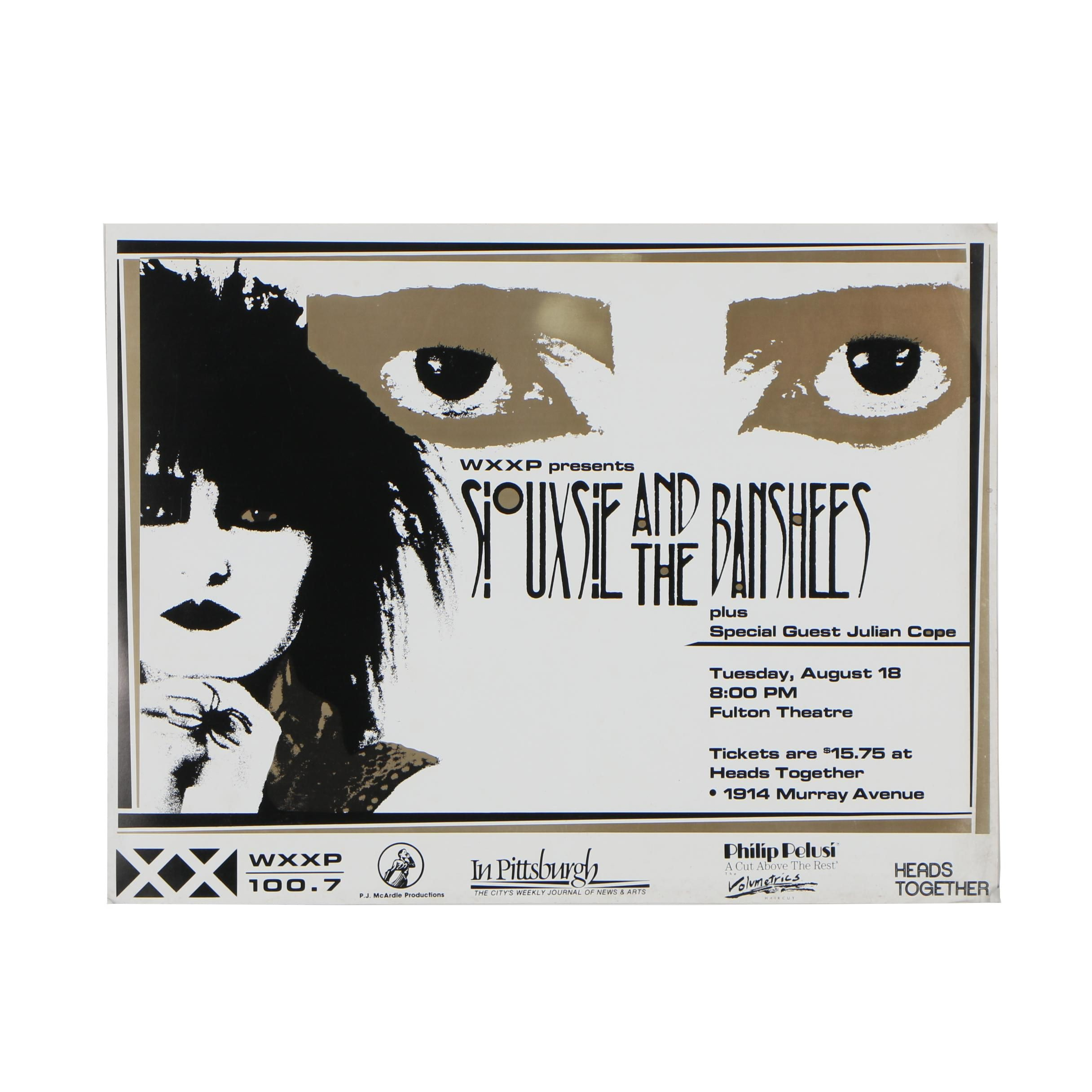 Siouxsie and the Banshees Concert Poster, 1987