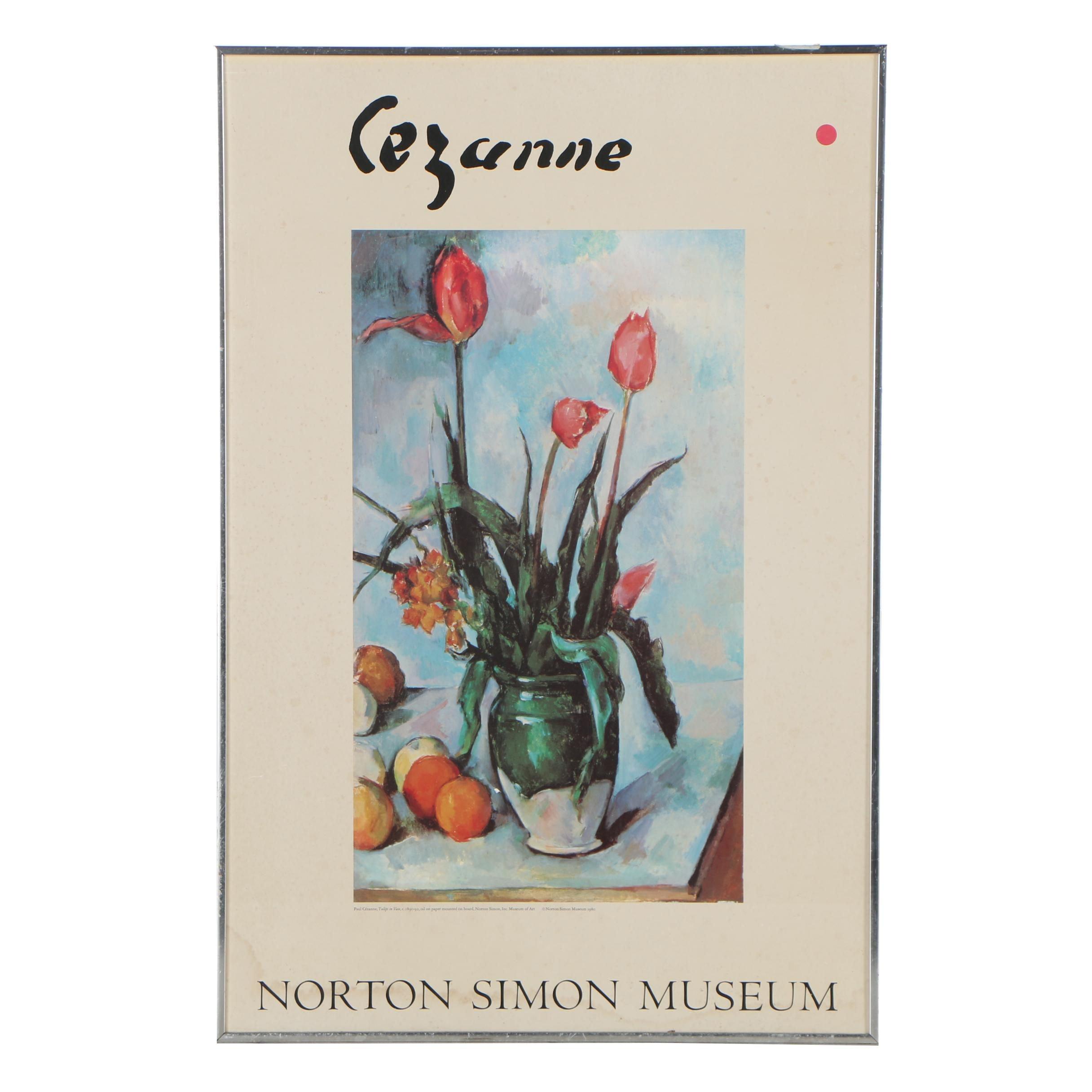 Norton Simon Museum Offset Lithograph Exhibition Poster after Paul Cézanne