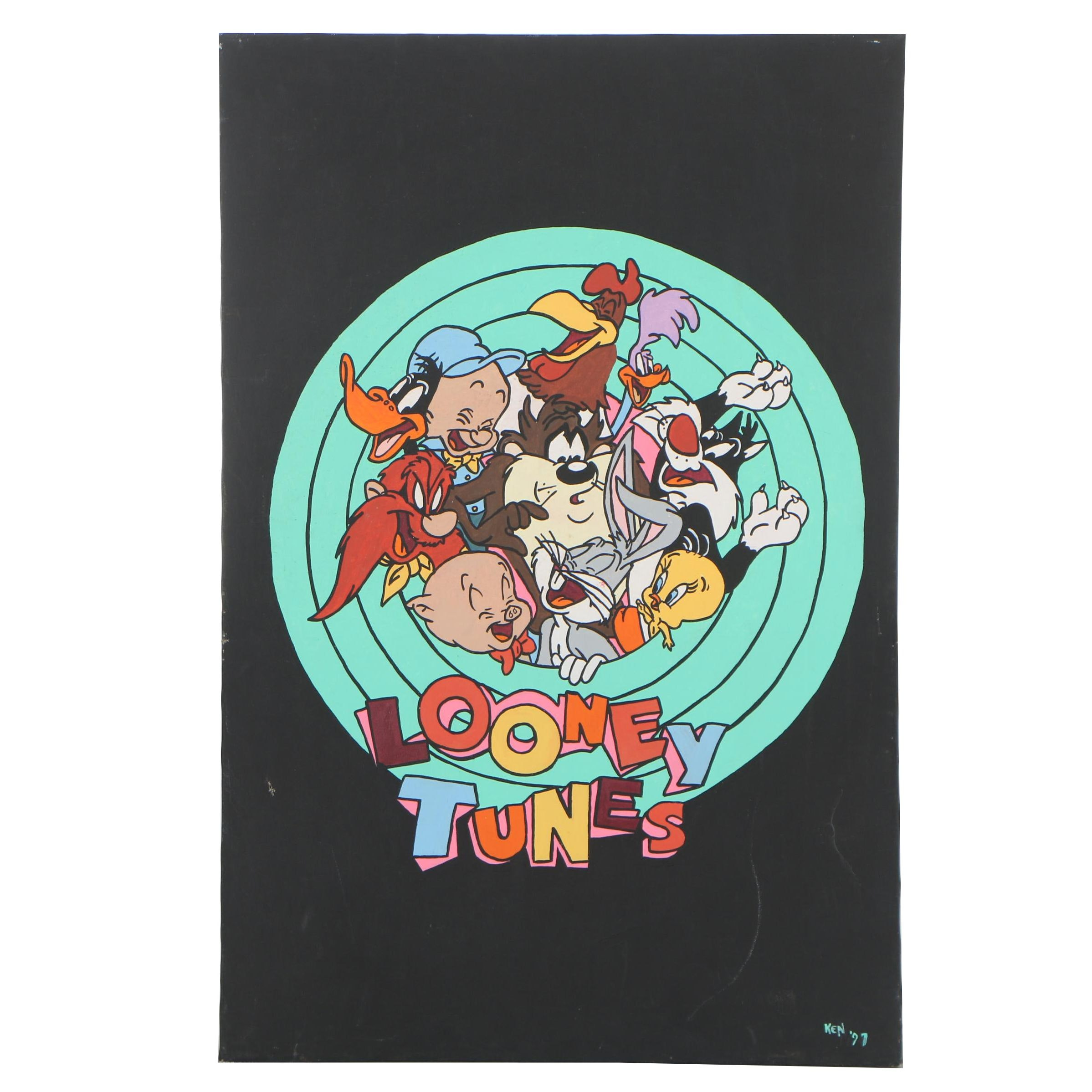 Copy Acrylic Painting after Looney Tunes Advertisement