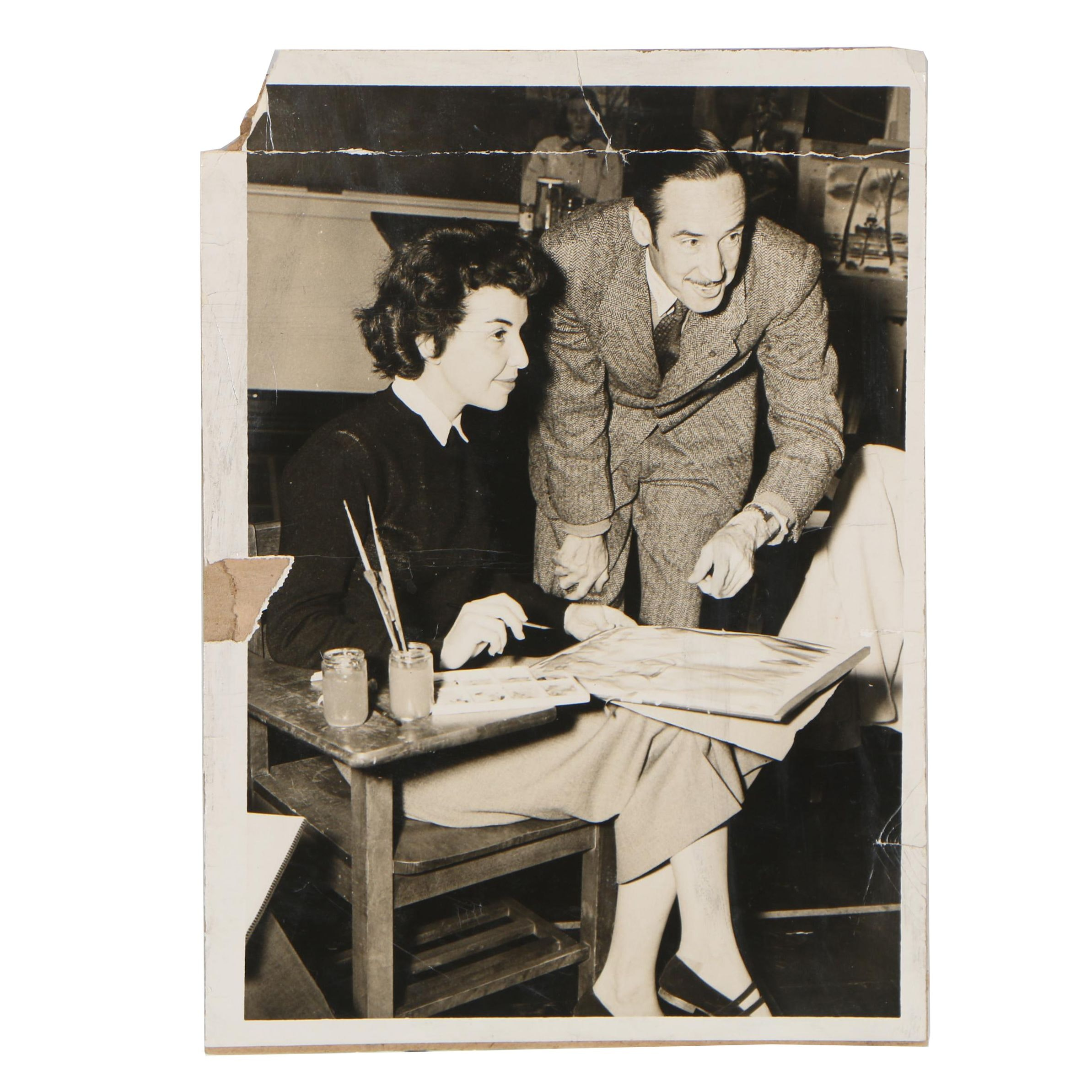 Gelatin Silver Photograph of Cathal O'Toole and Student