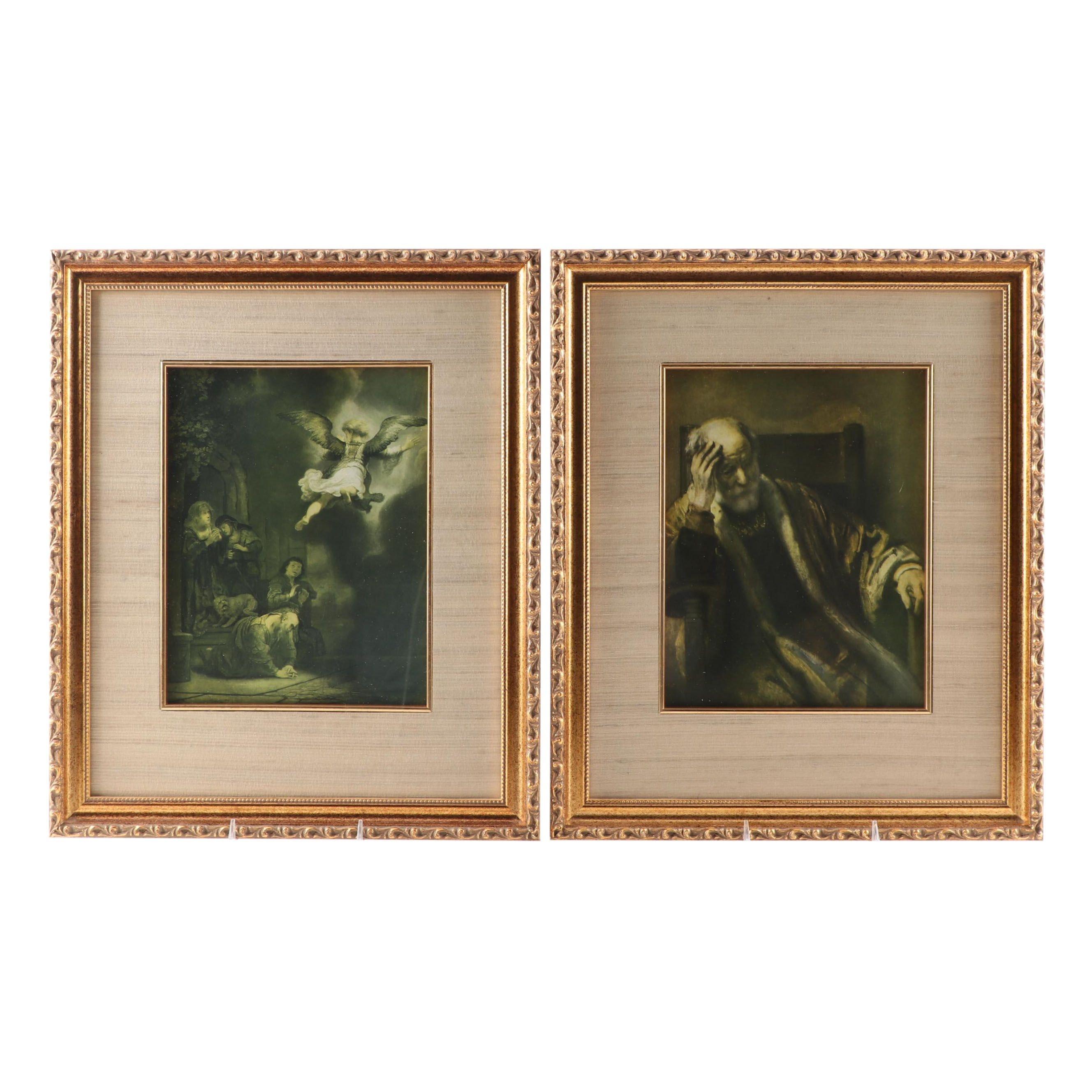 Offset Lithographs after Rembrandt