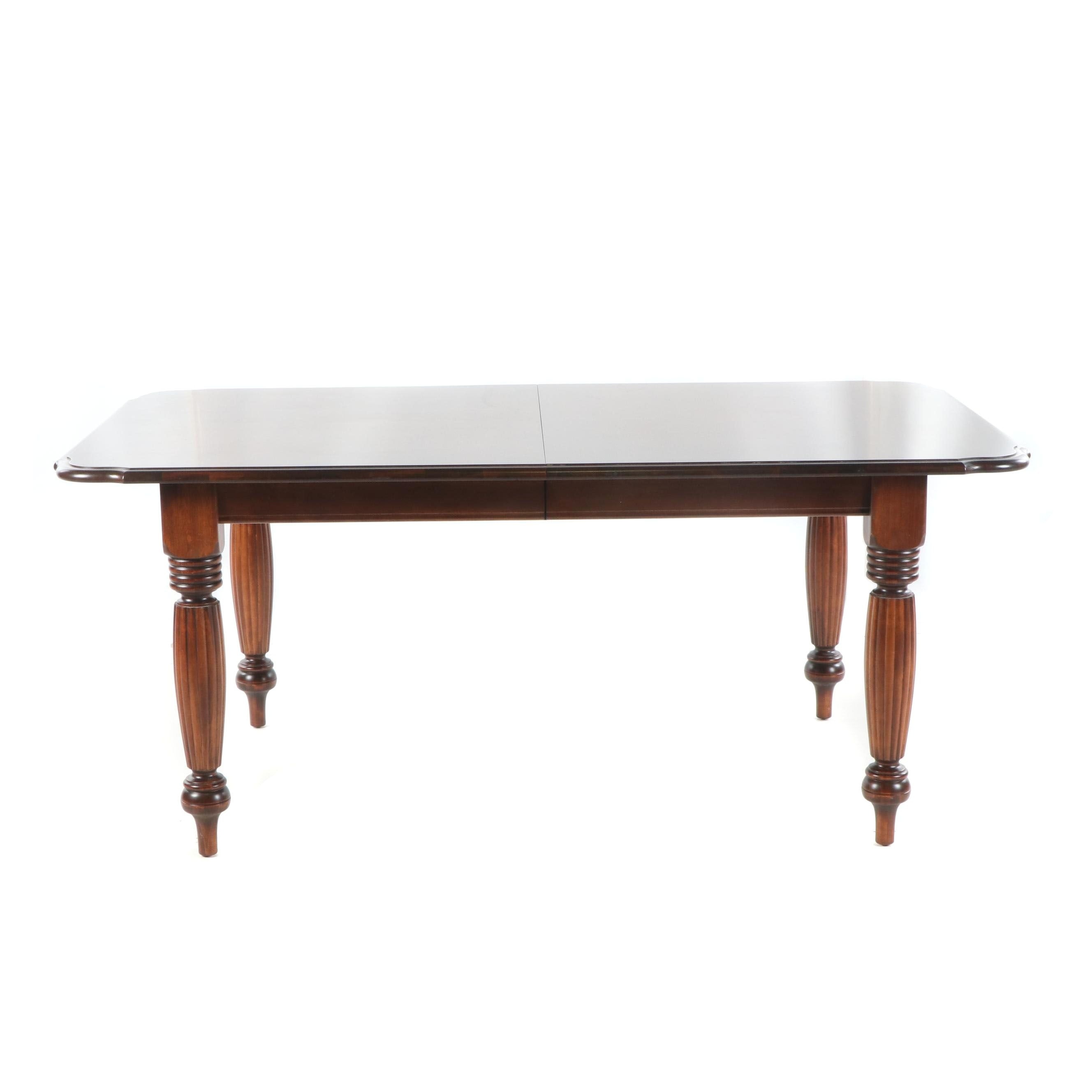 Federal Style Mahogany Dining Table, Late 20th Century