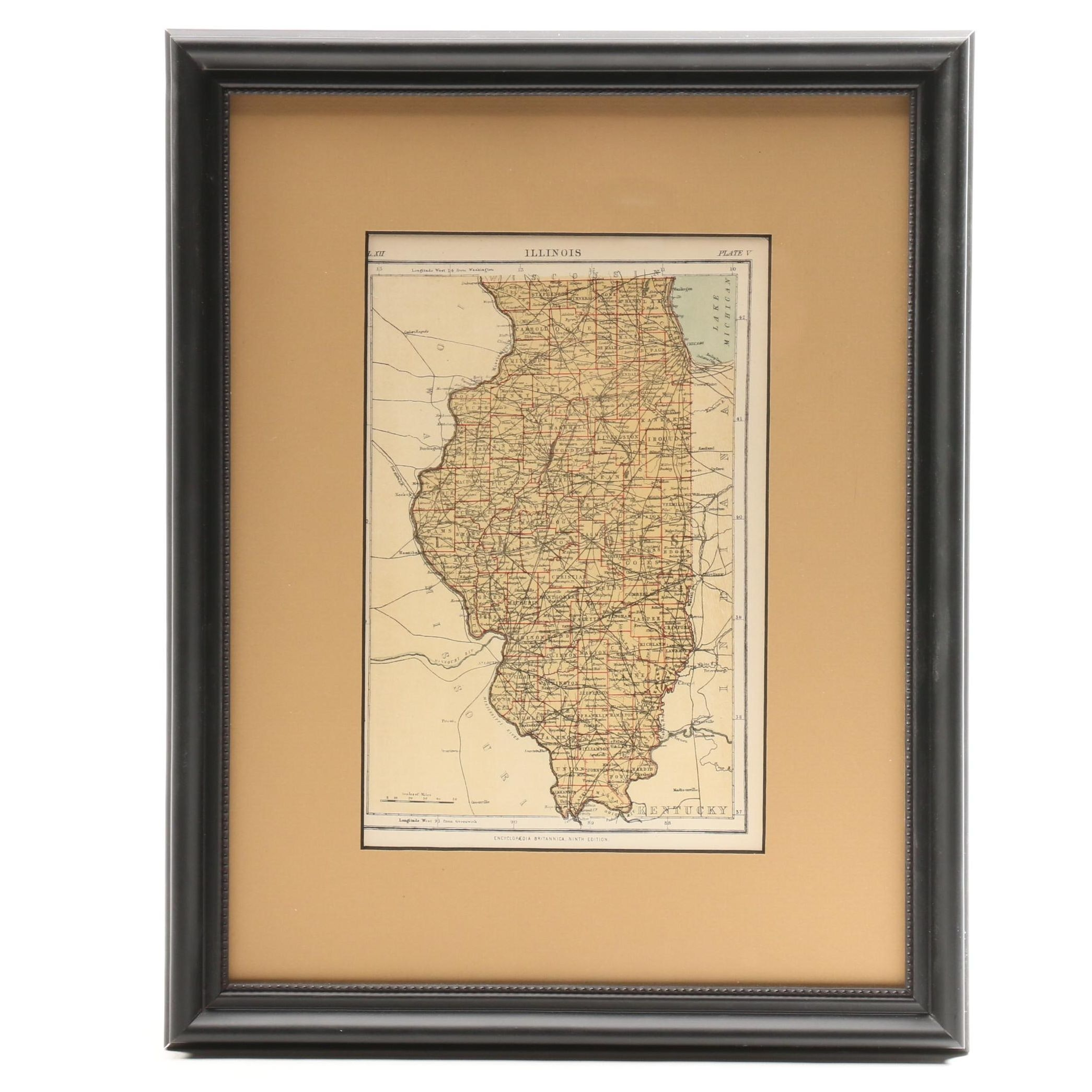Antique Map of Illinois