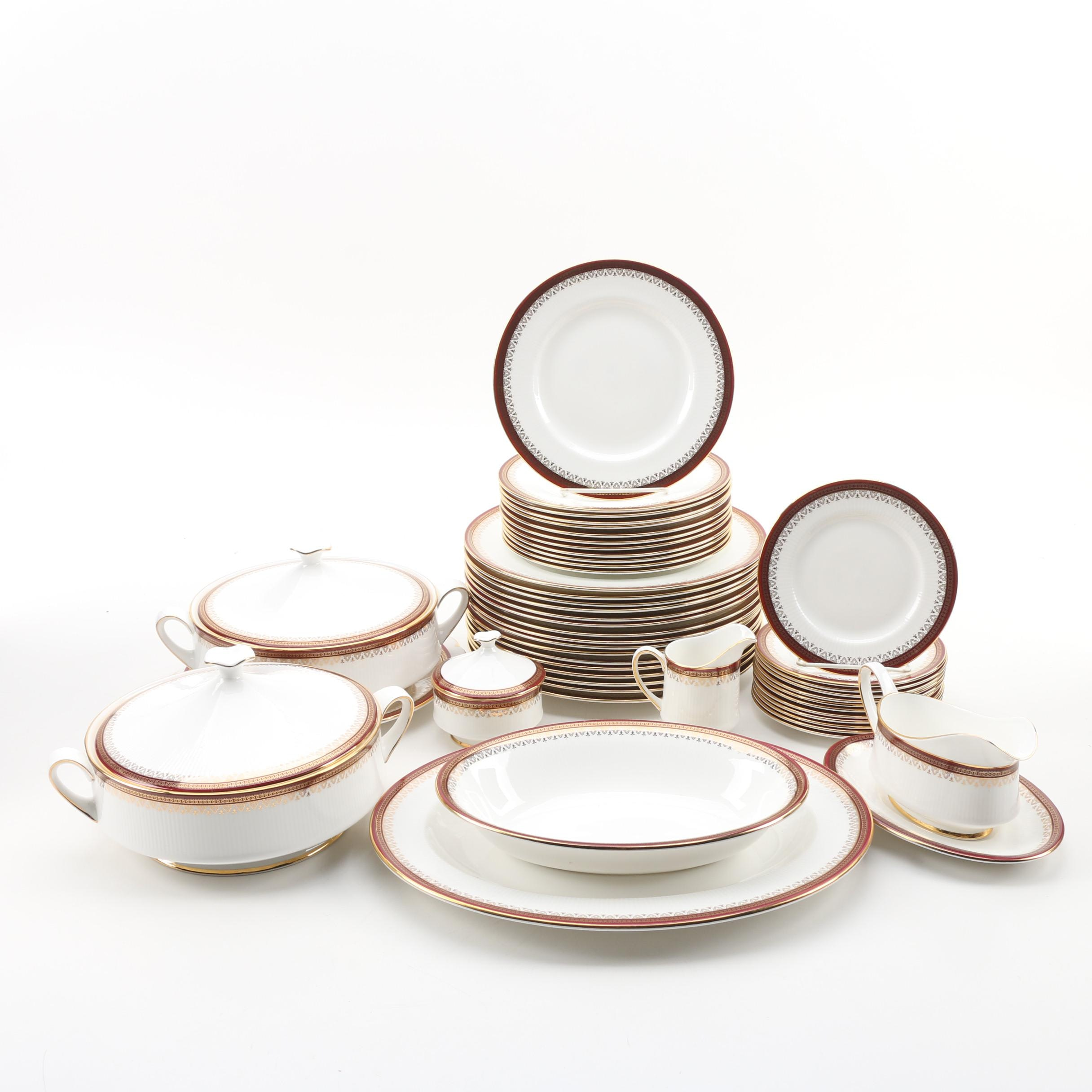 """Paragon """"Holyrood"""" Bone China Dinnerware and Serving Pieces, 1987-1990"""