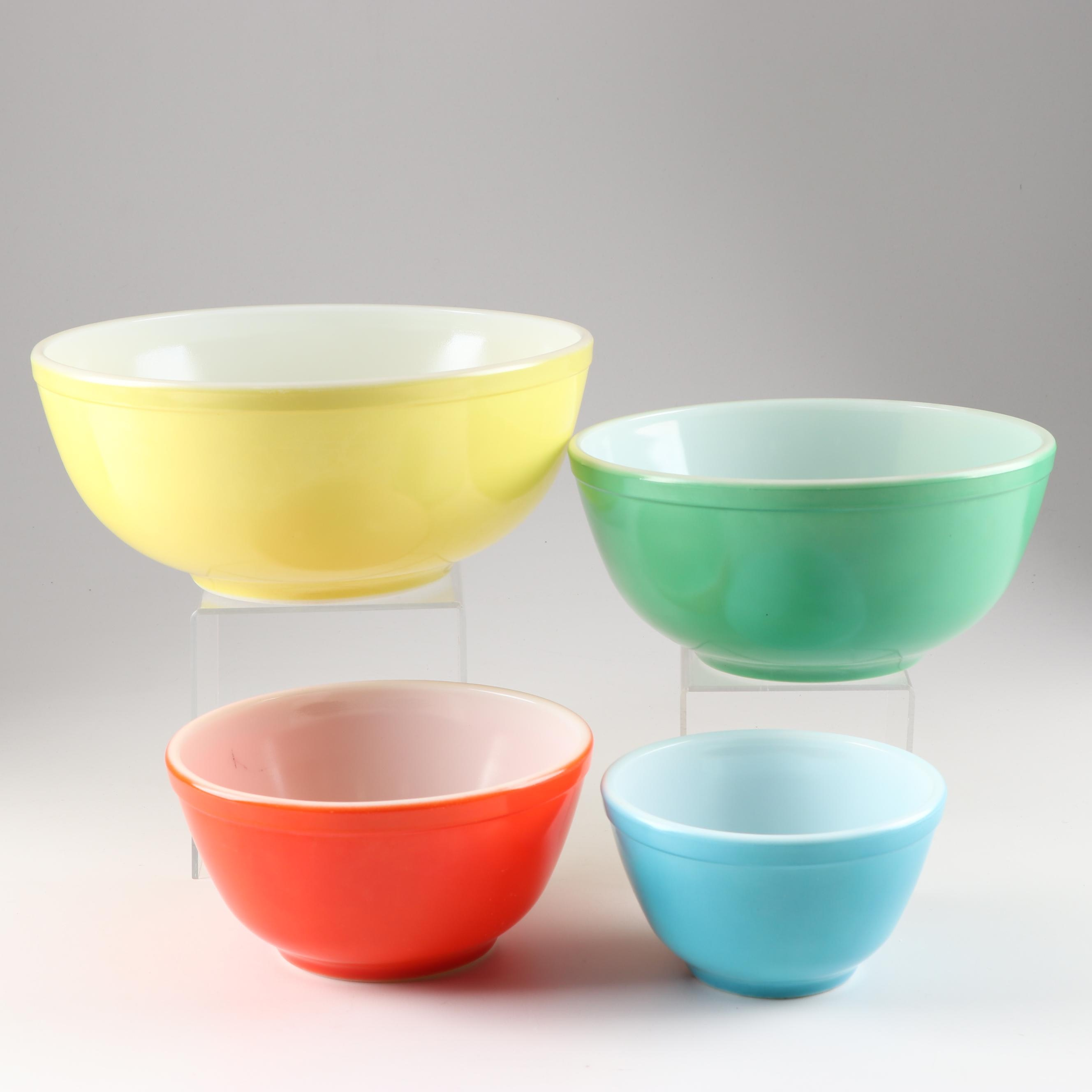 Pyrex Primary Mixing Bowls