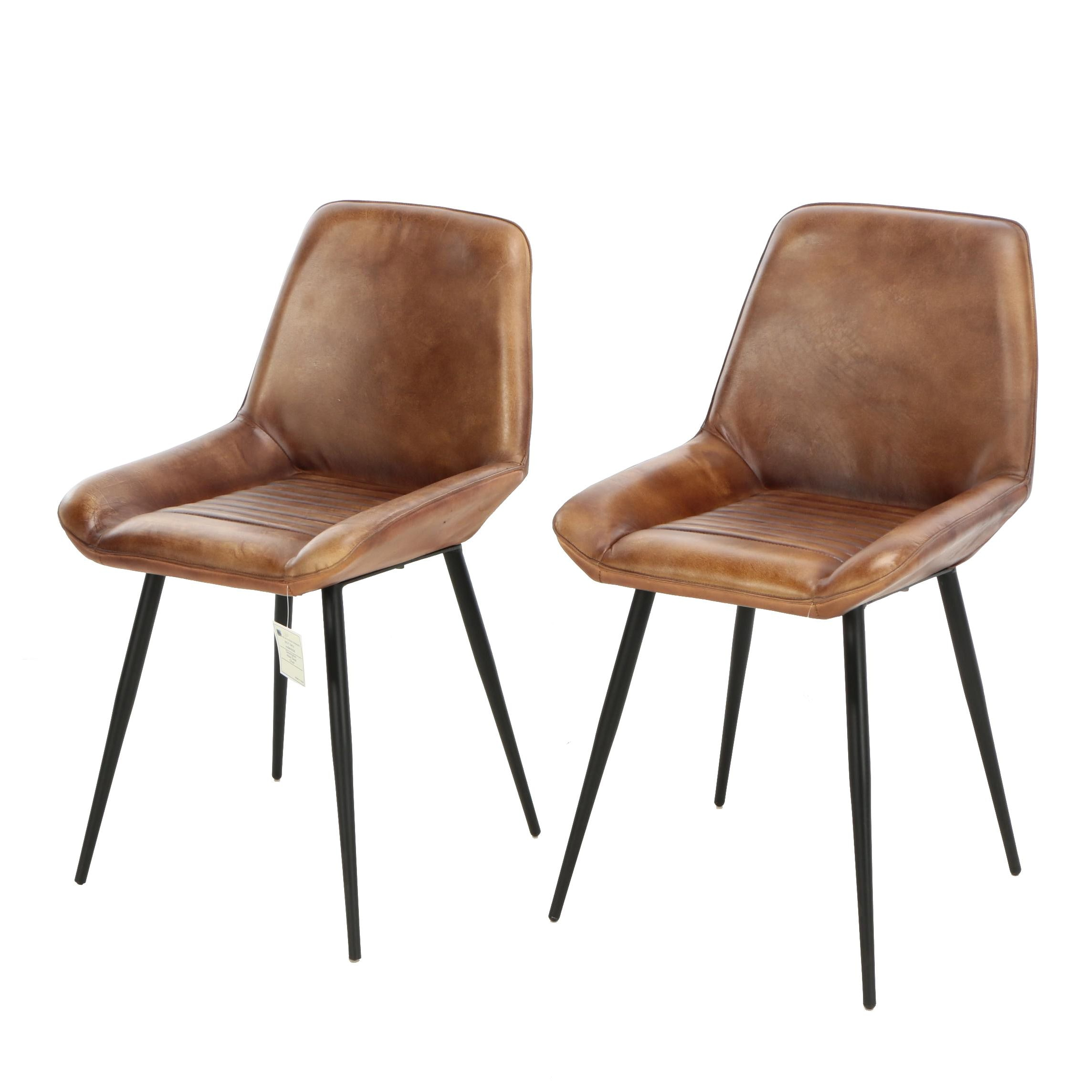 "Mid Century Modern Style ""Atlas"" Leather Desk Chairs"