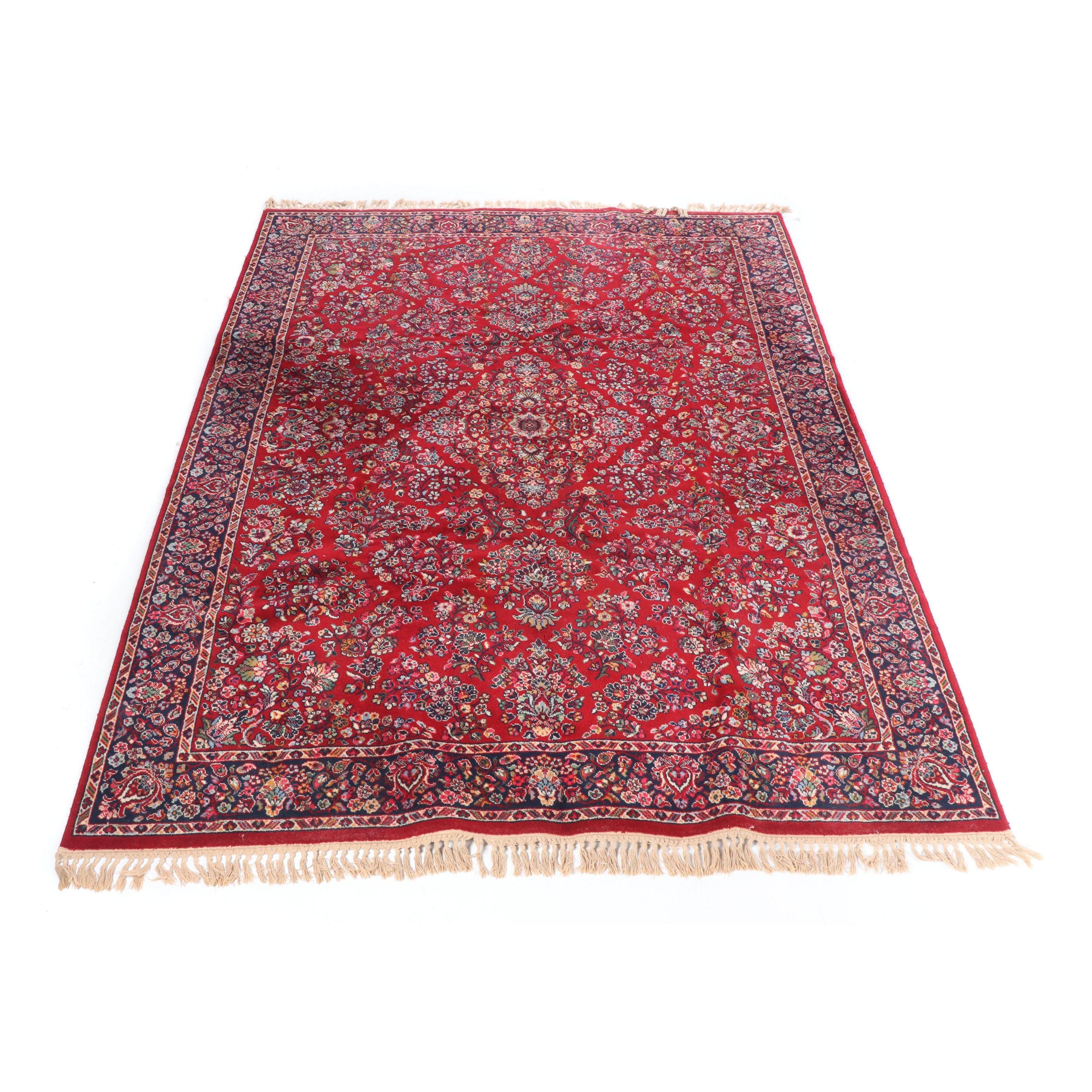 Machine Made Indian Kerman Wool Area Rug