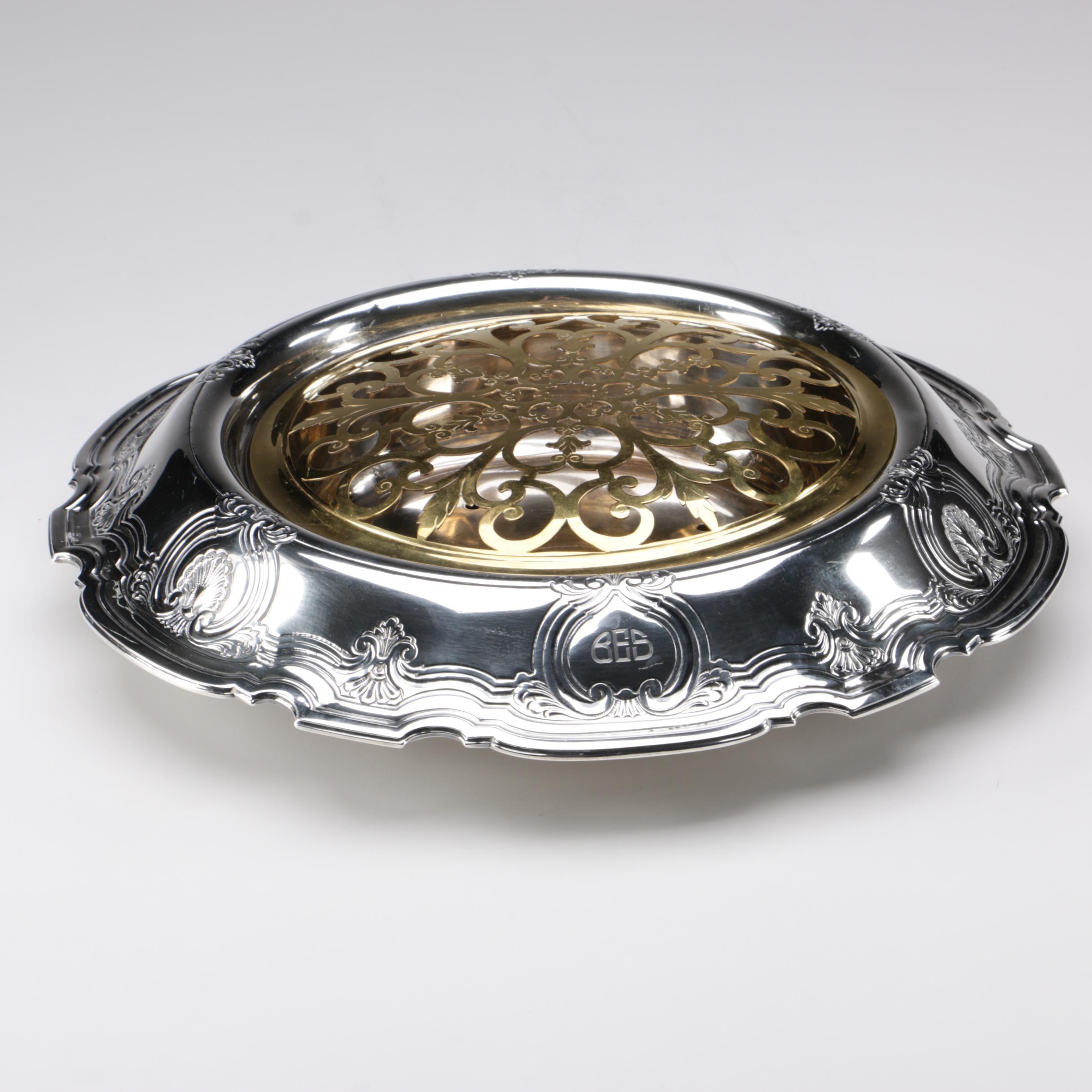 Tiffany & Co. Sterling Centerpiece Bowl Flower Arranger, 1921