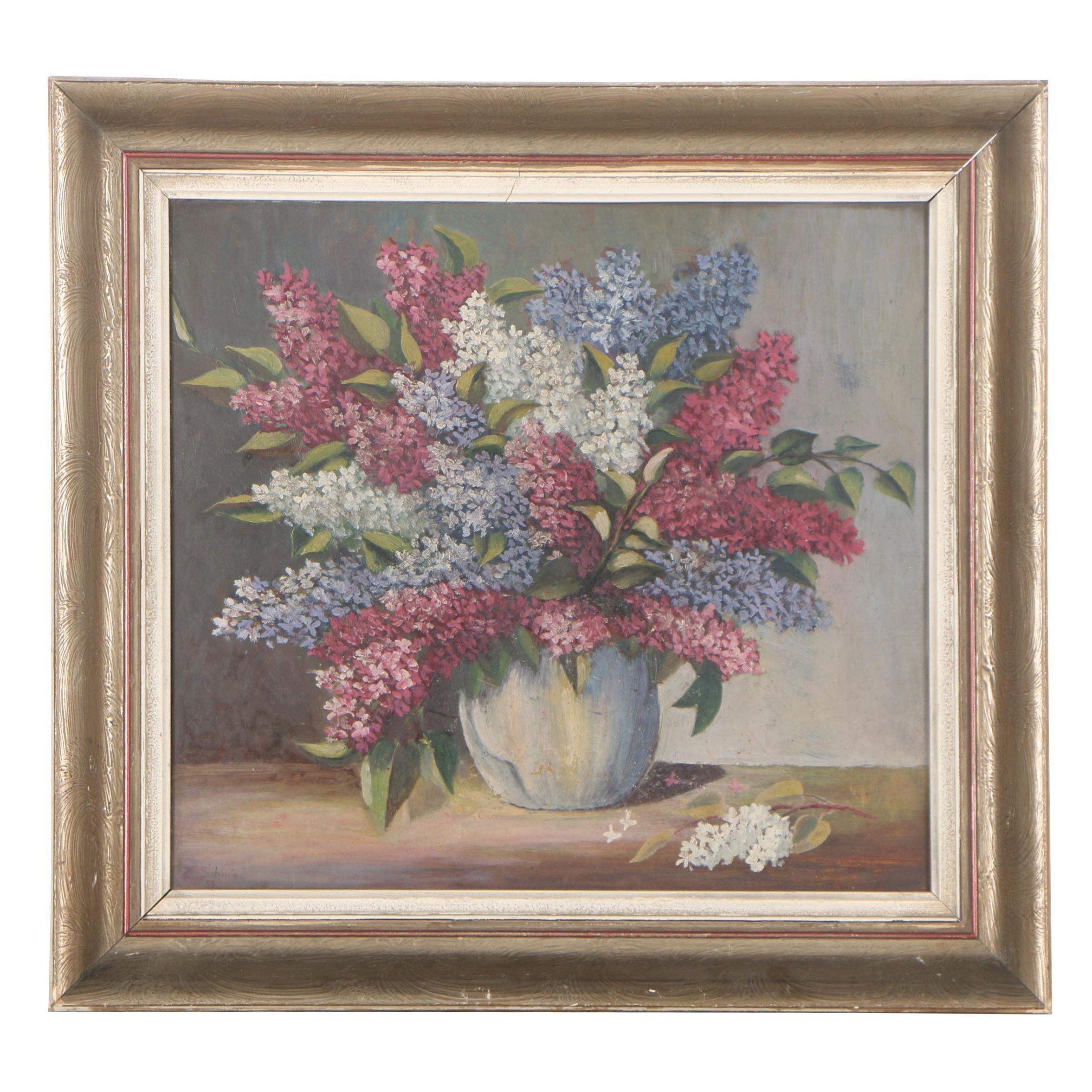 1954 Still-Life Oil Painting