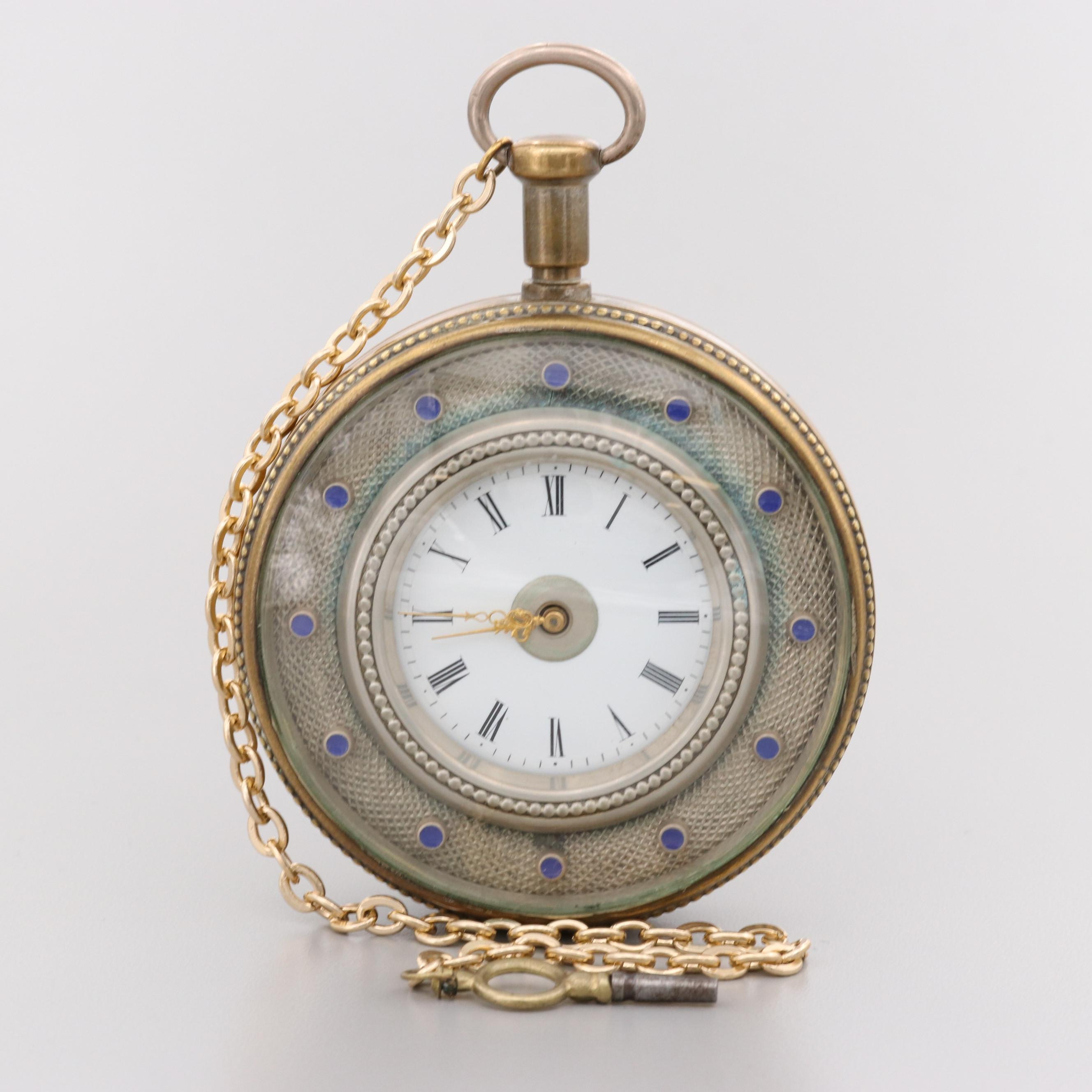 Large Ulysse Nardin Minute Repeater Pocket Watch, Circa 1850