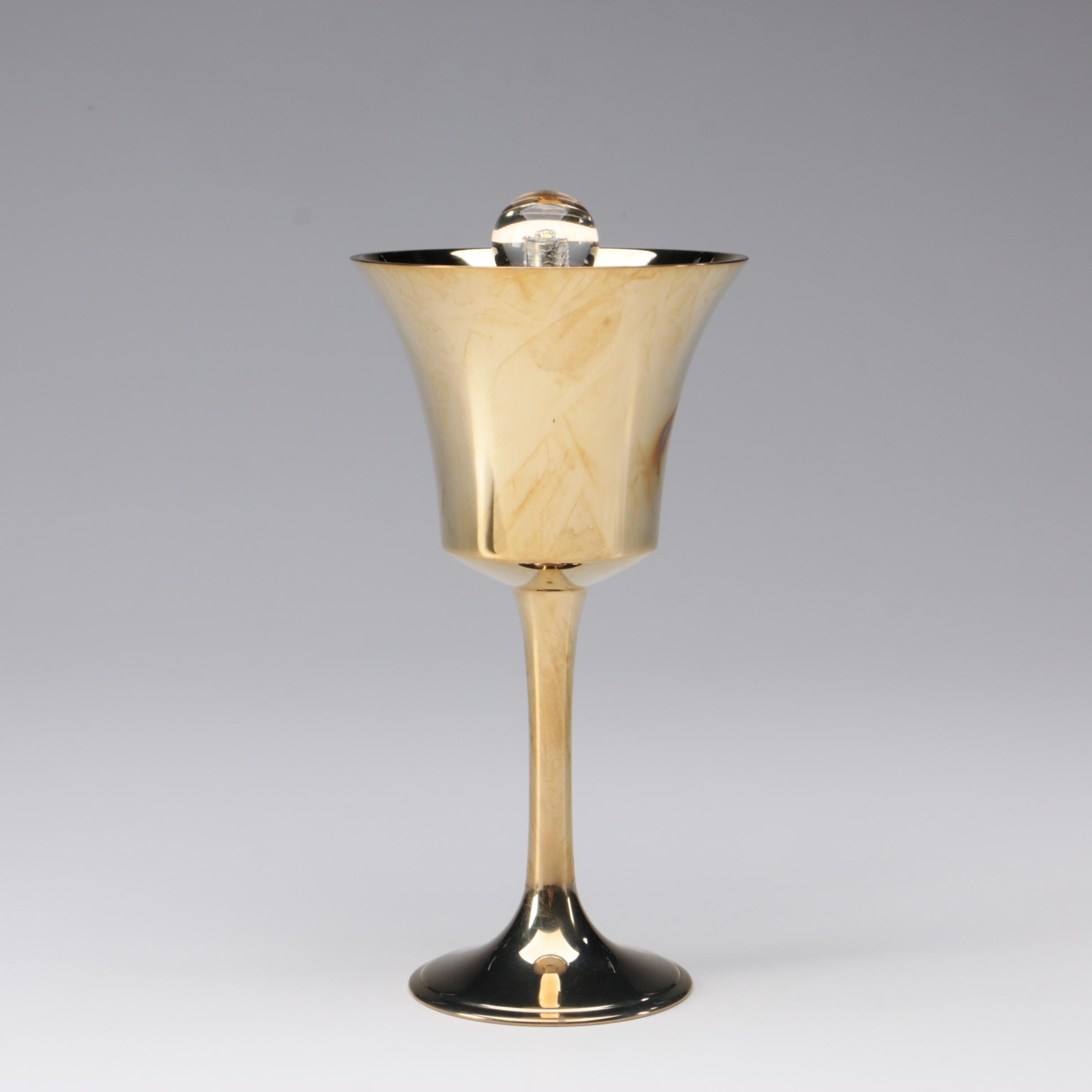 "Donald Lipski Bronze Sculpture ""Bell Chalice"""